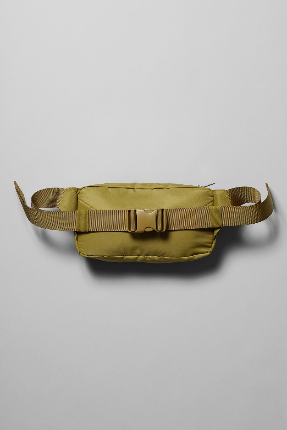 Back image of Weekday wood waist bag in yellow