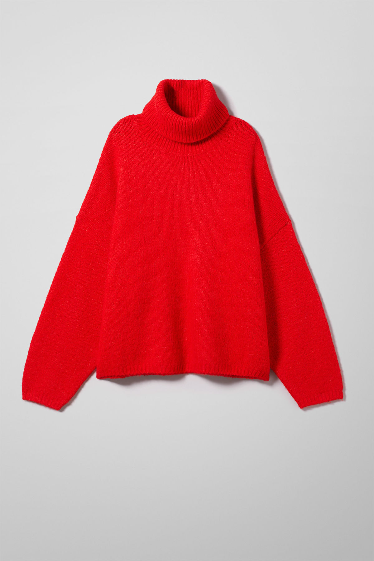 Front image of Weekday lotta sweater in red