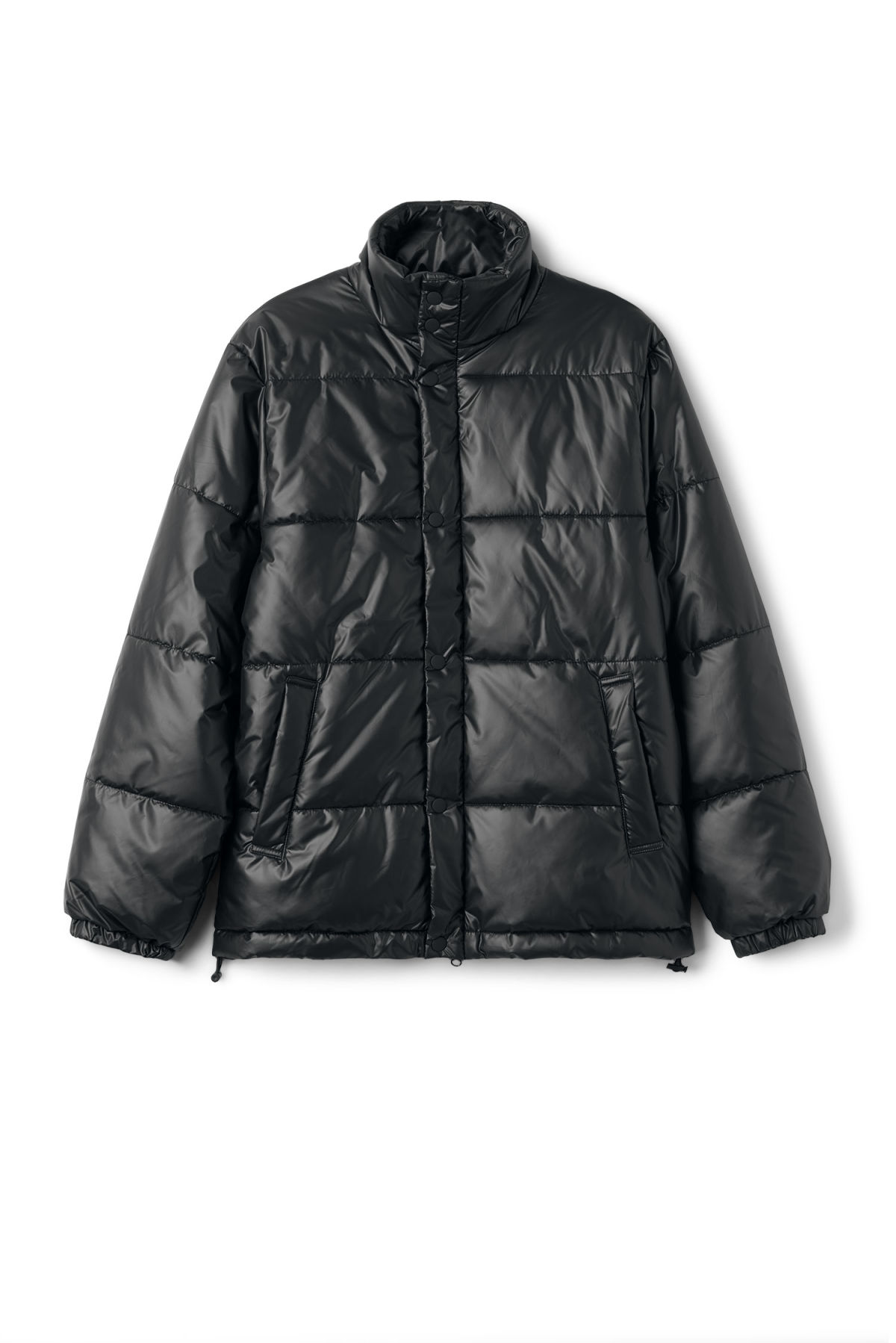 Front image of Weekday ply jacket in black