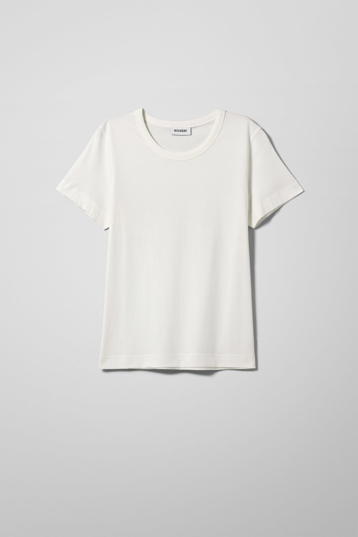 Front image of Weekday kate t-shirt in white