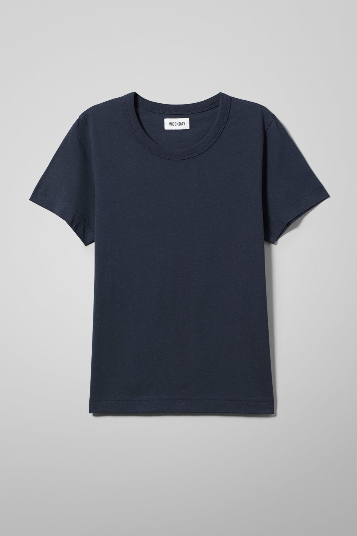 Front image of Weekday kate t-shirt in blue