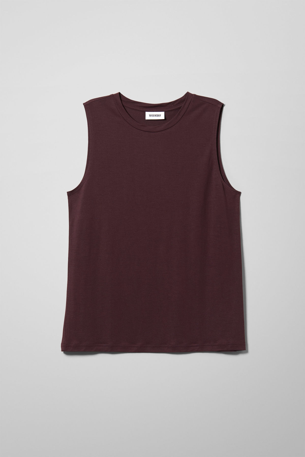 Front image of Weekday original tanktop in red