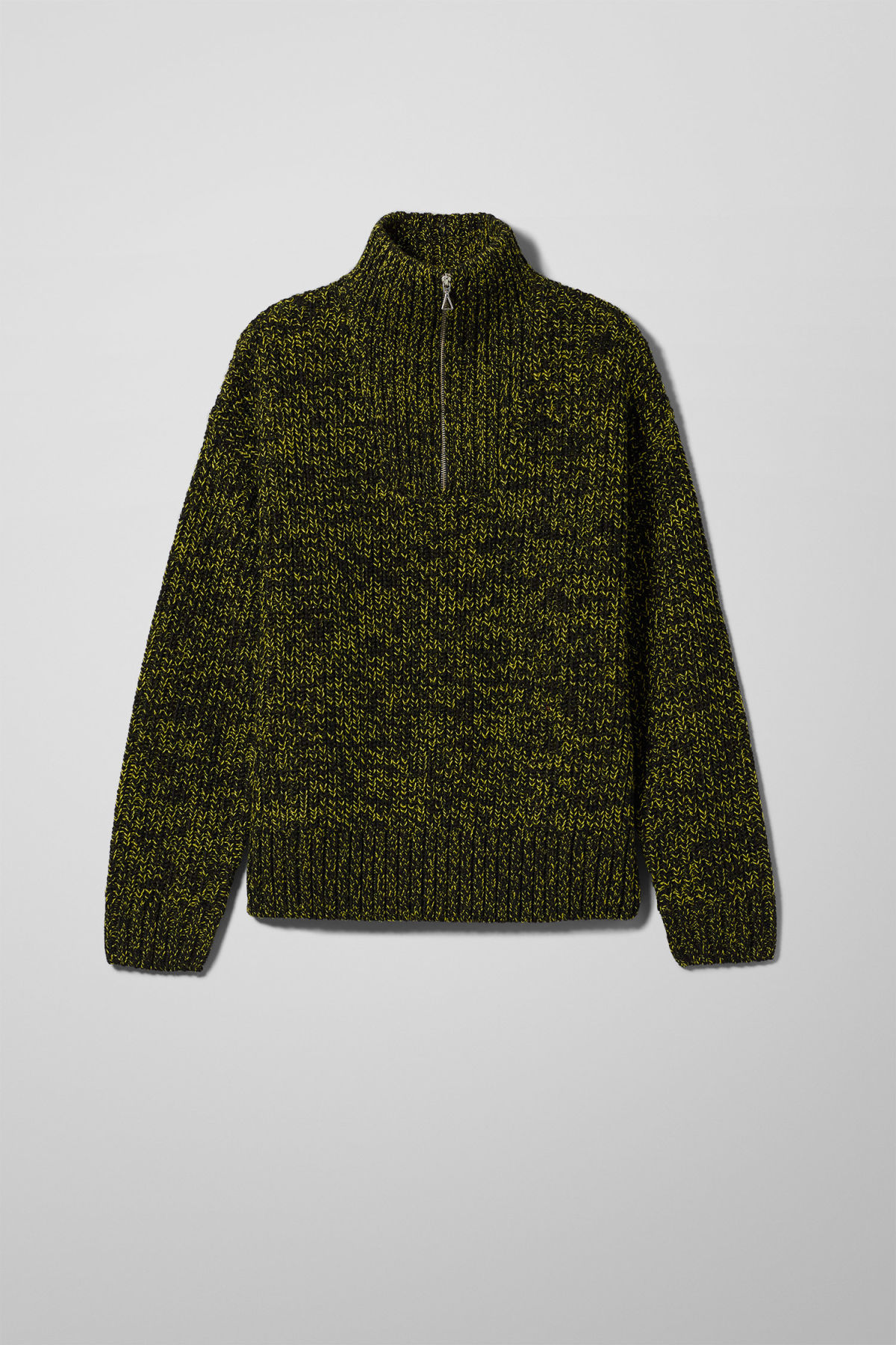 Front image of Weekday arnold sweater in yellow