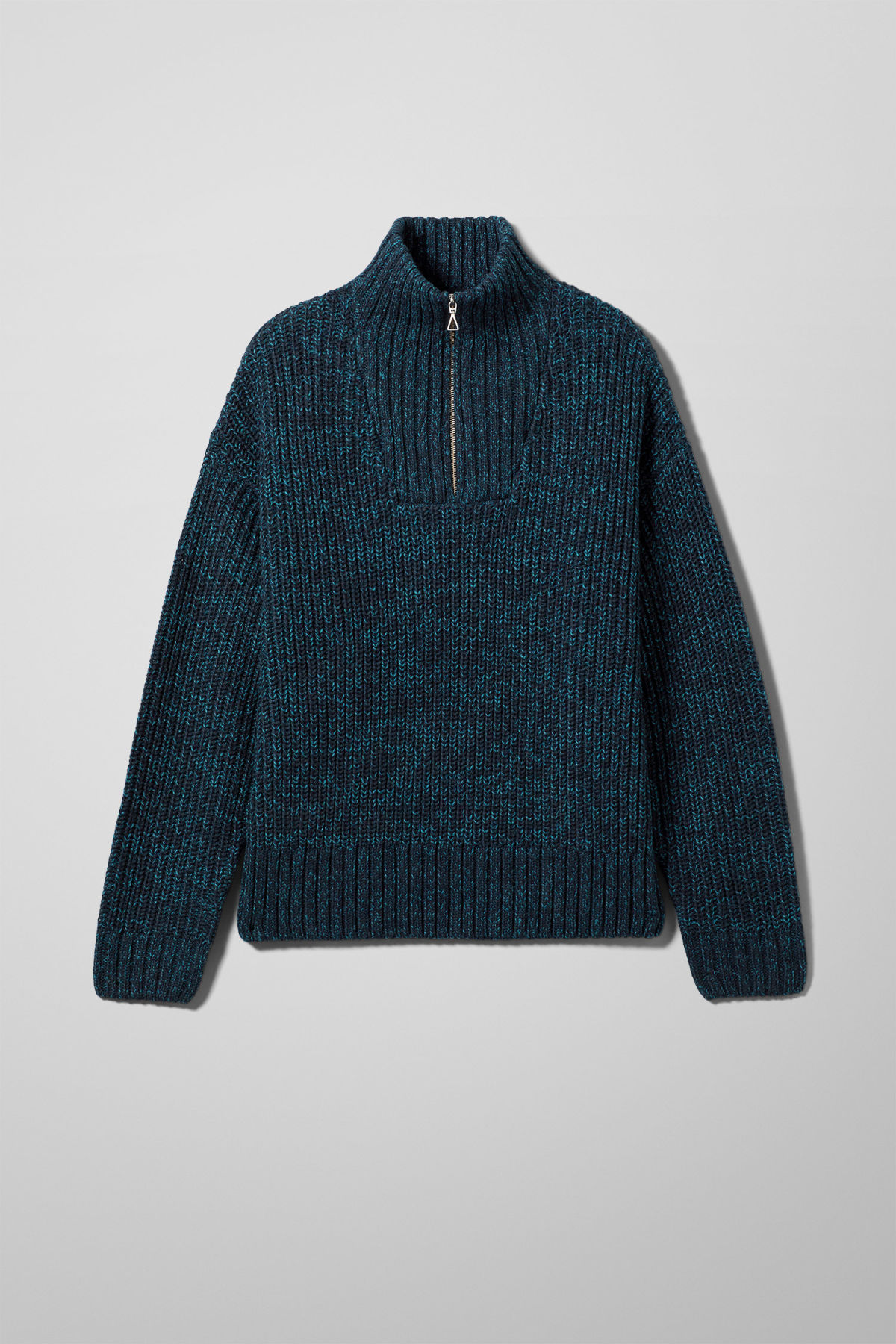 Front image of Weekday arnold sweater in blue