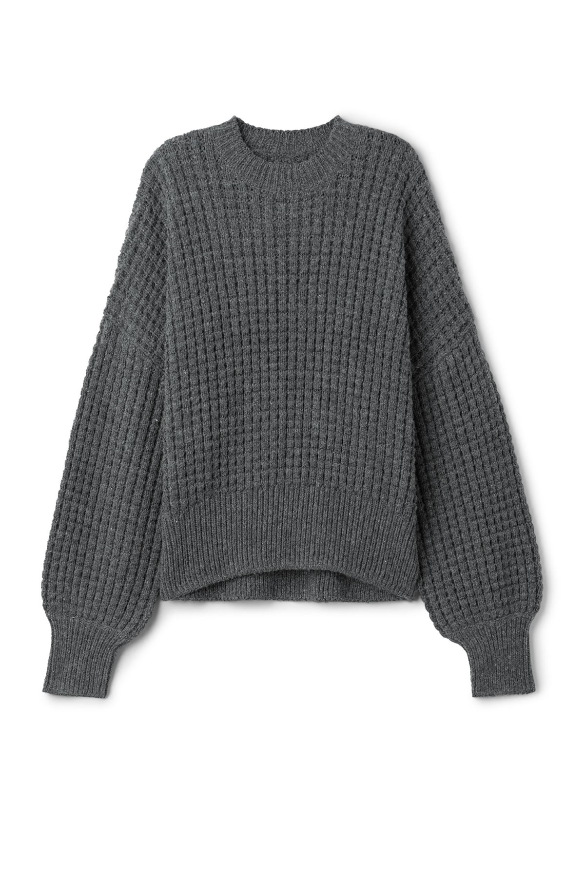 Front image of Weekday pine sweater in grey