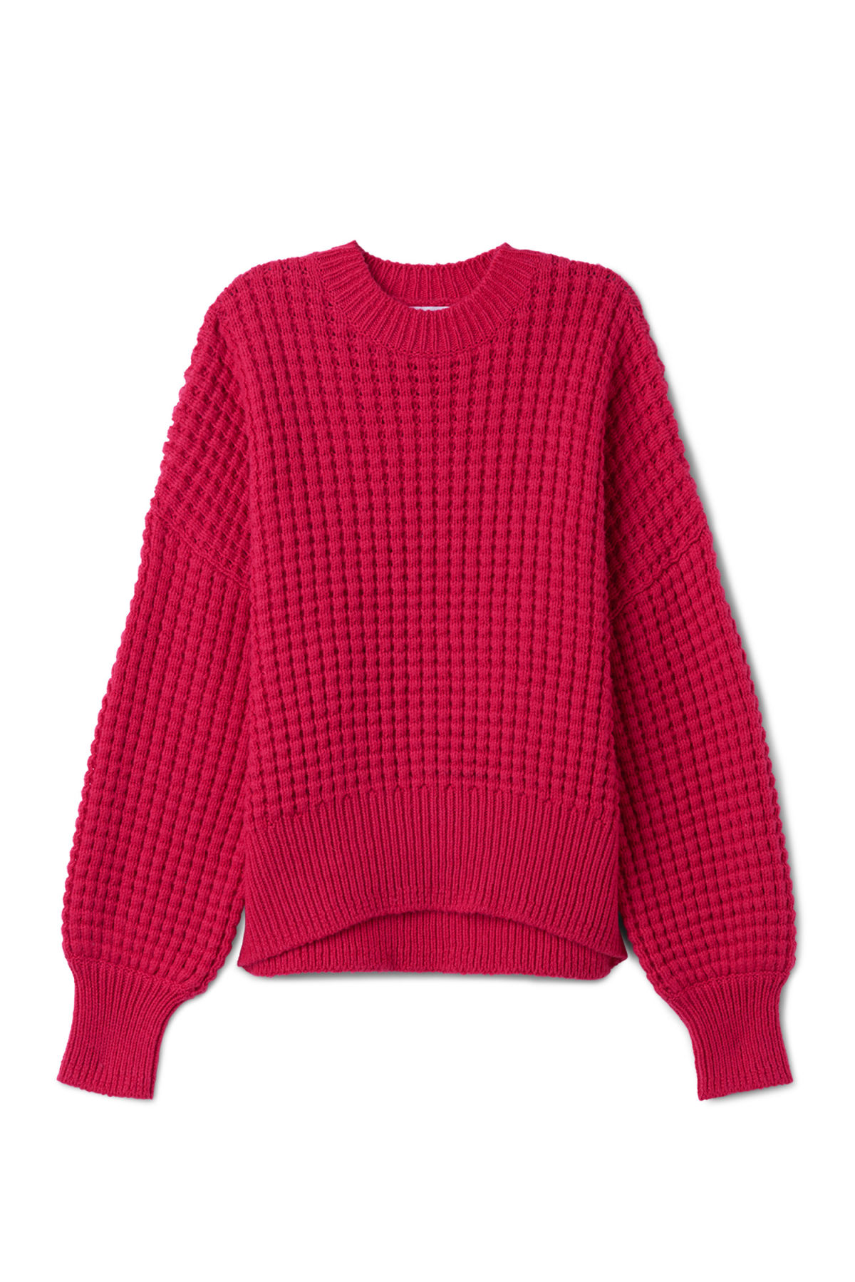 Front image of Weekday pine sweater in pink