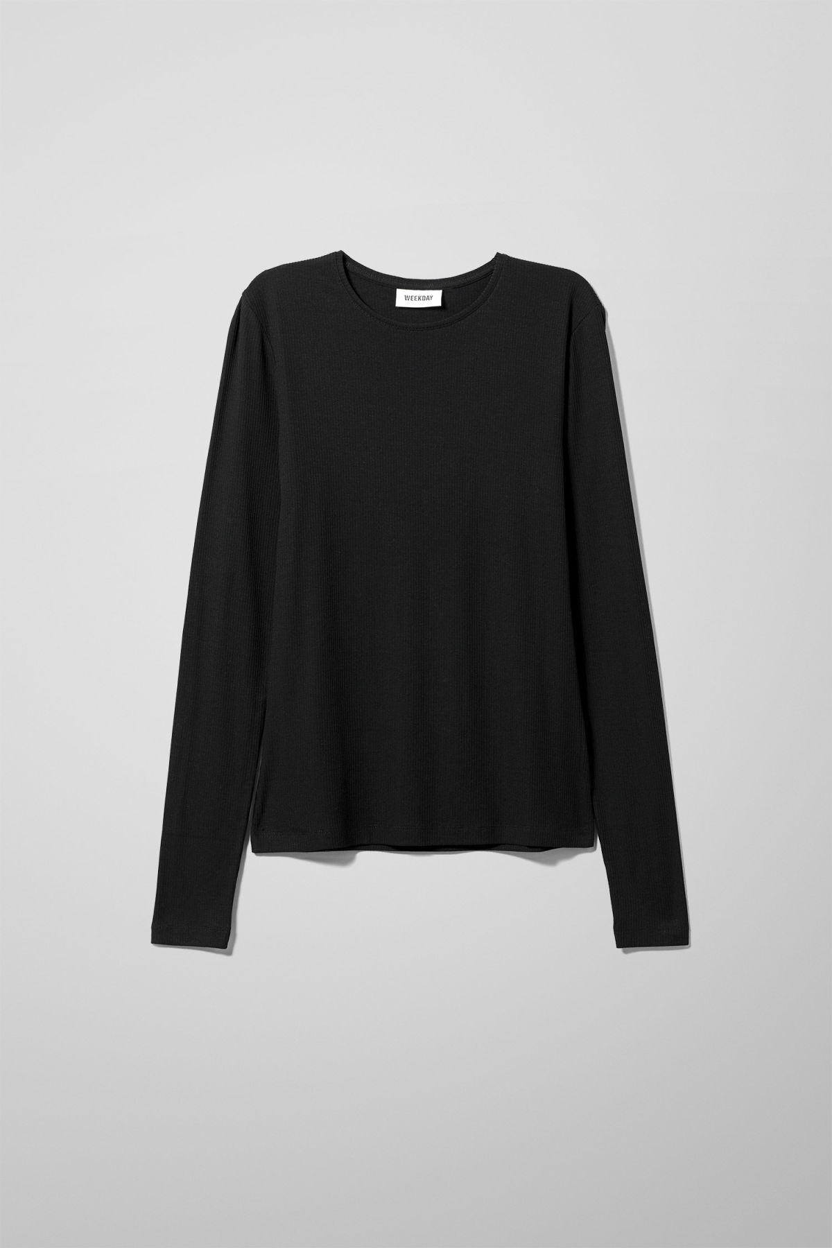 Front image of Weekday alice long sleeve in black