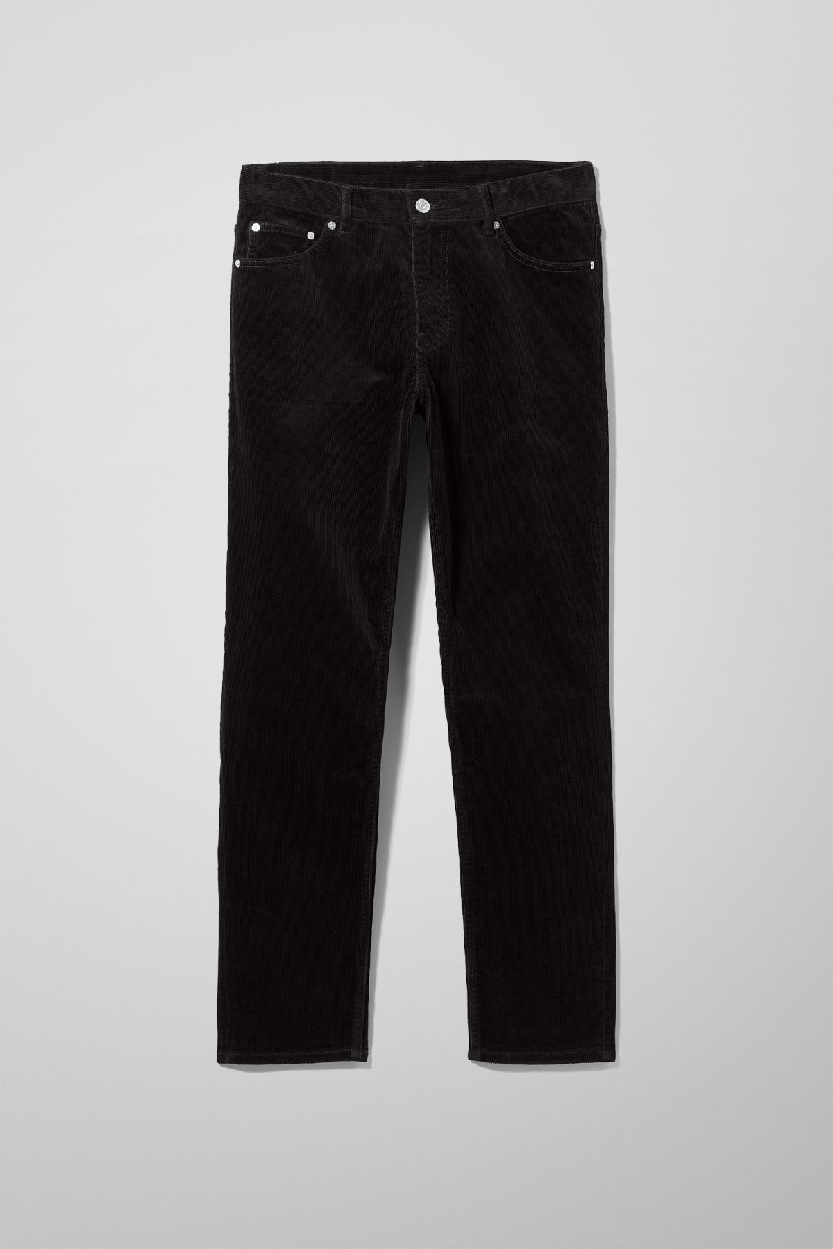 Front image of Weekday friday corduroy in black
