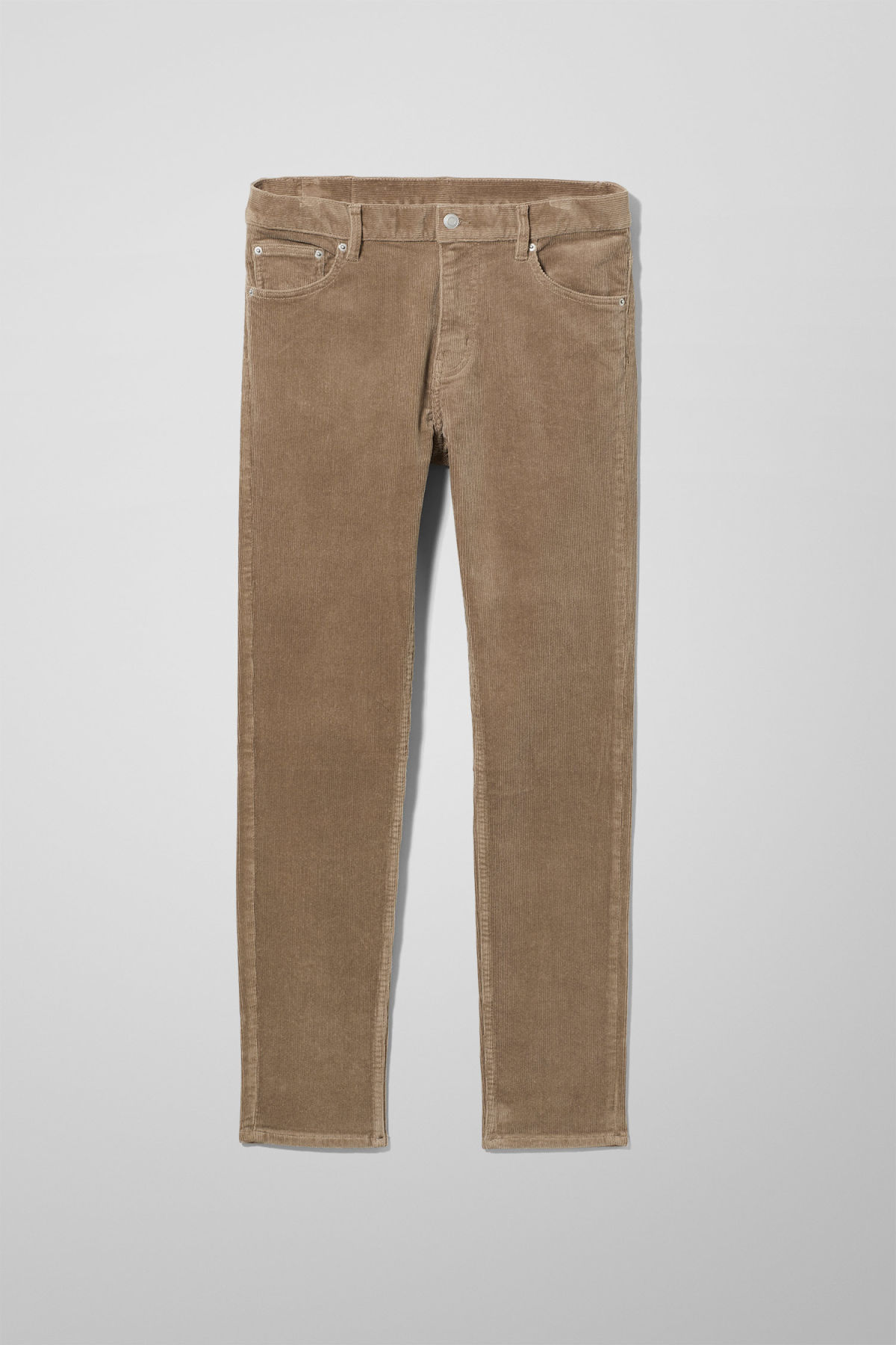 Front image of Weekday friday corduroy in beige