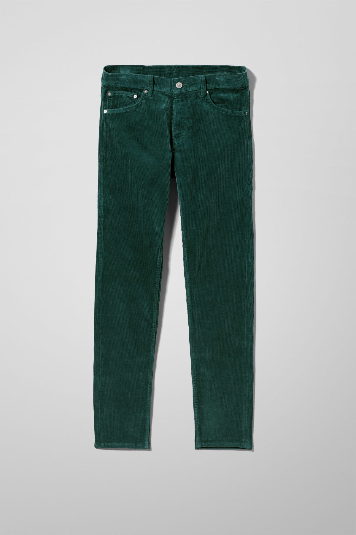 Front image of Weekday friday corduroy in green