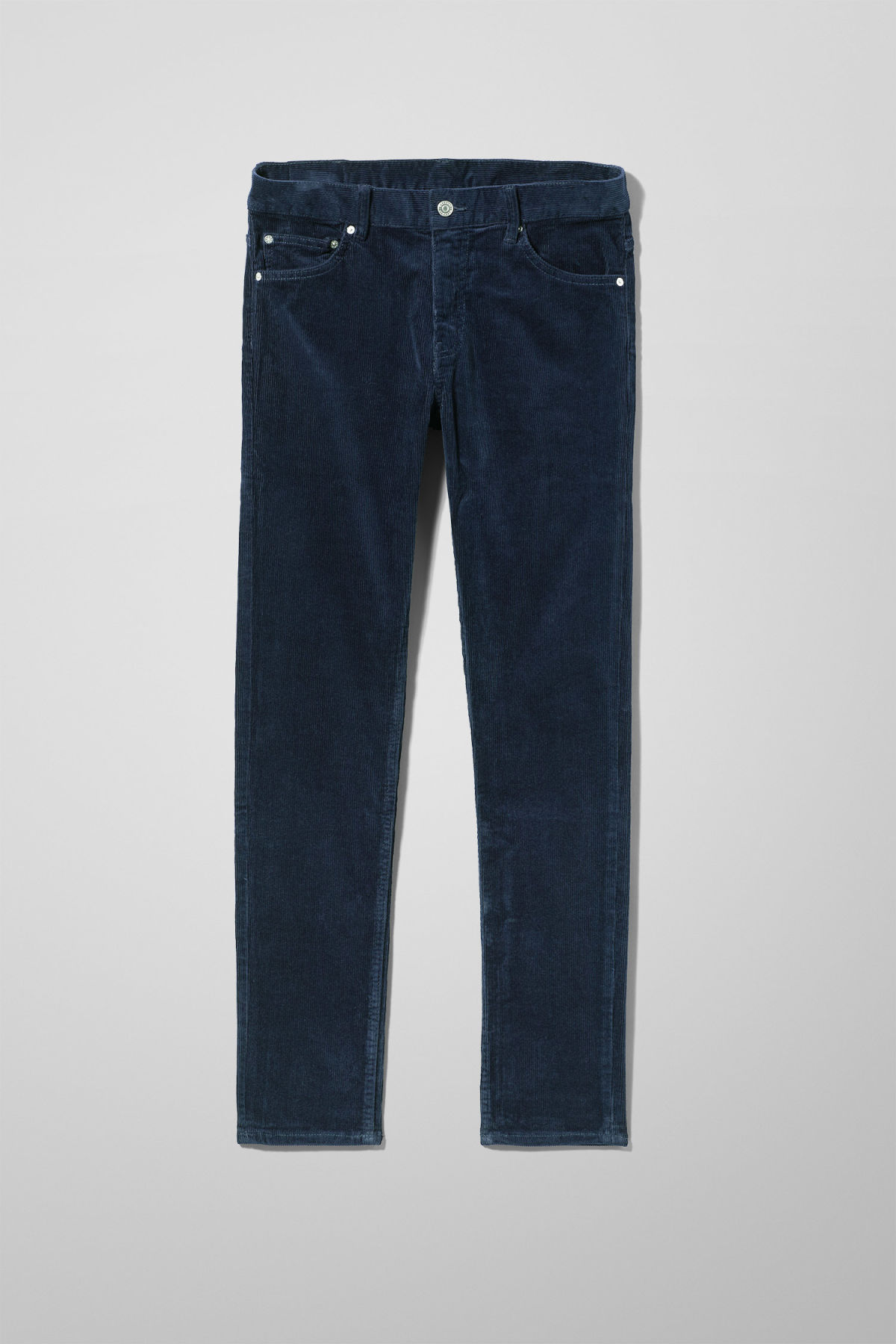 Front image of Weekday friday corduroy in blue