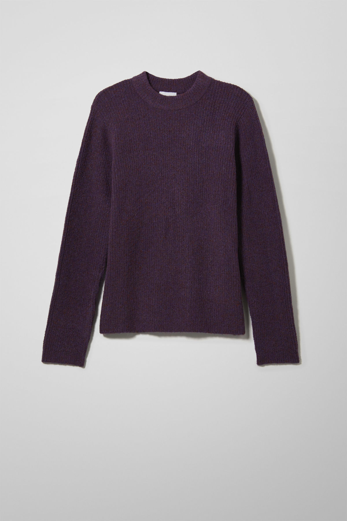 Front image of Weekday mino sweater in purple