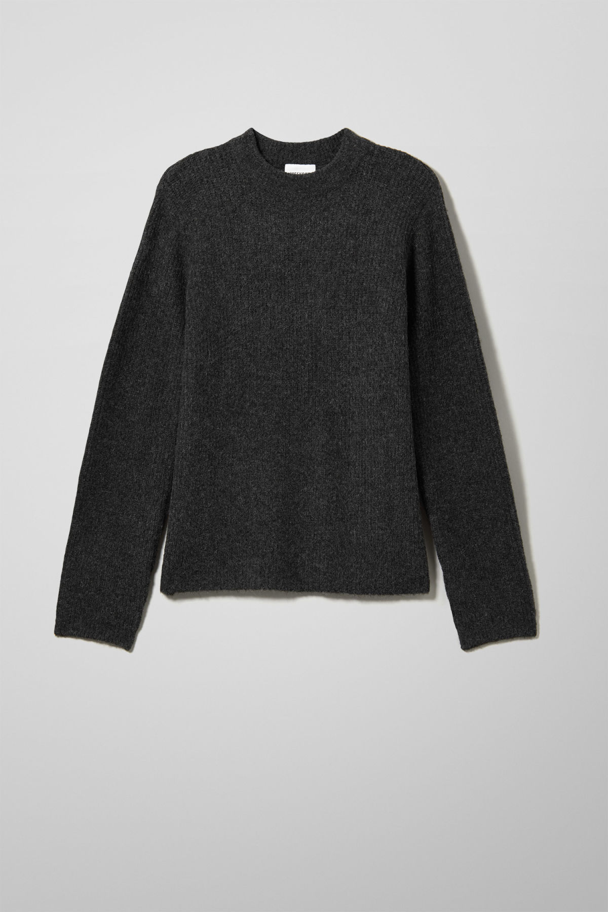 Front image of Weekday mino sweater in black