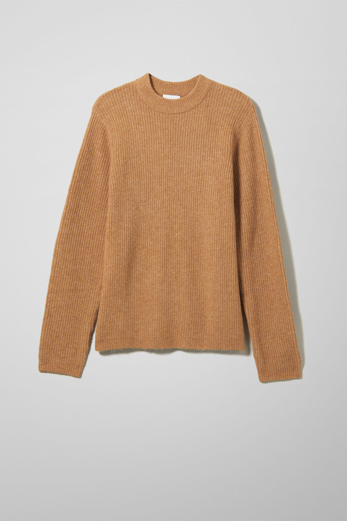 Front image of Weekday mino sweater in yellow