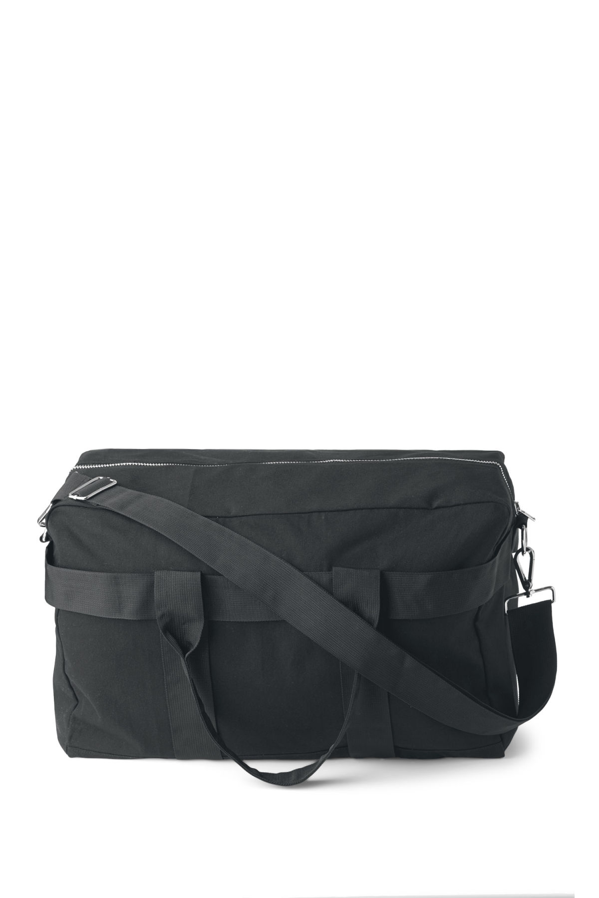 Front image of Weekday forest weekend bag in black