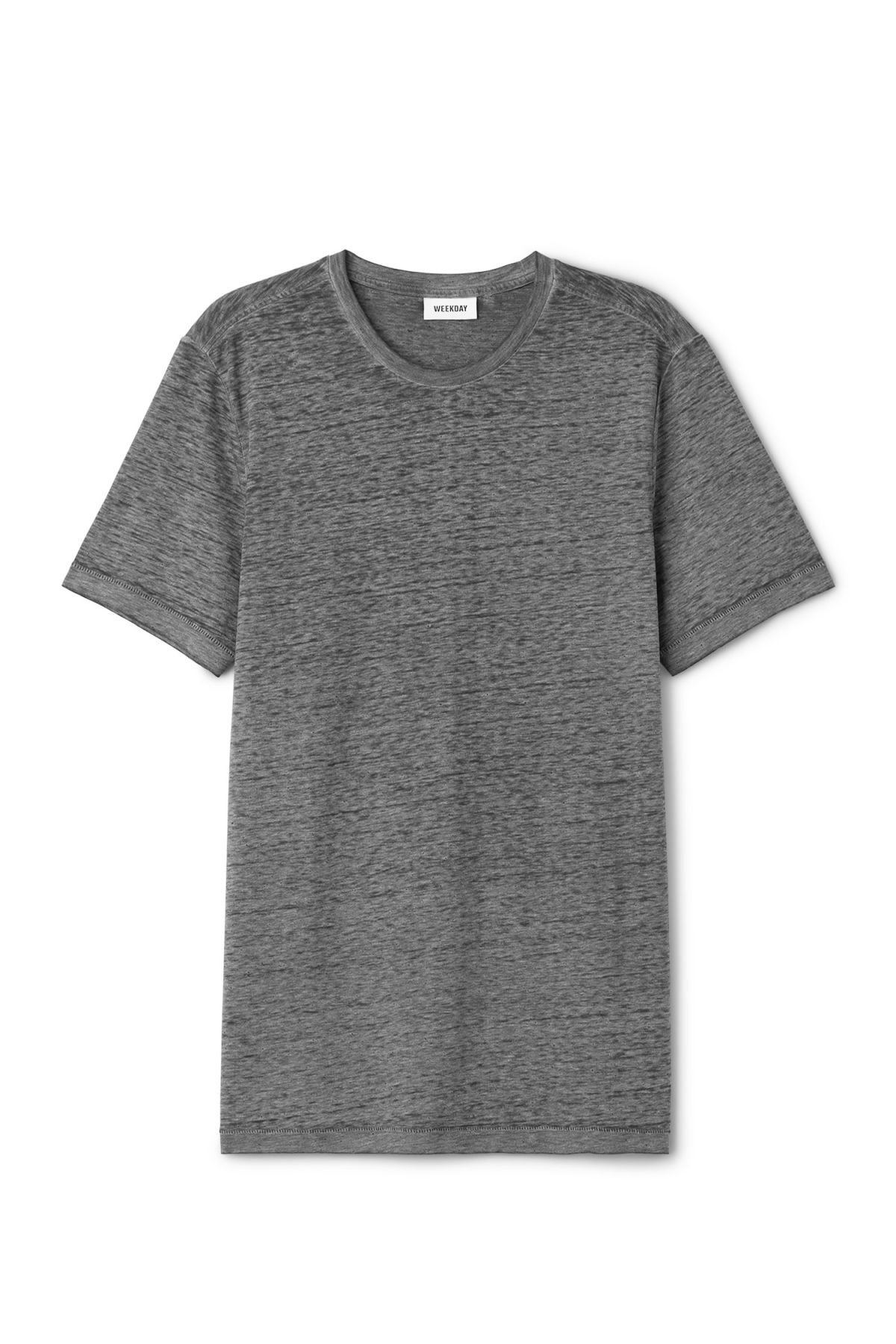 Front image of Weekday friend burnout t-shirt in grey
