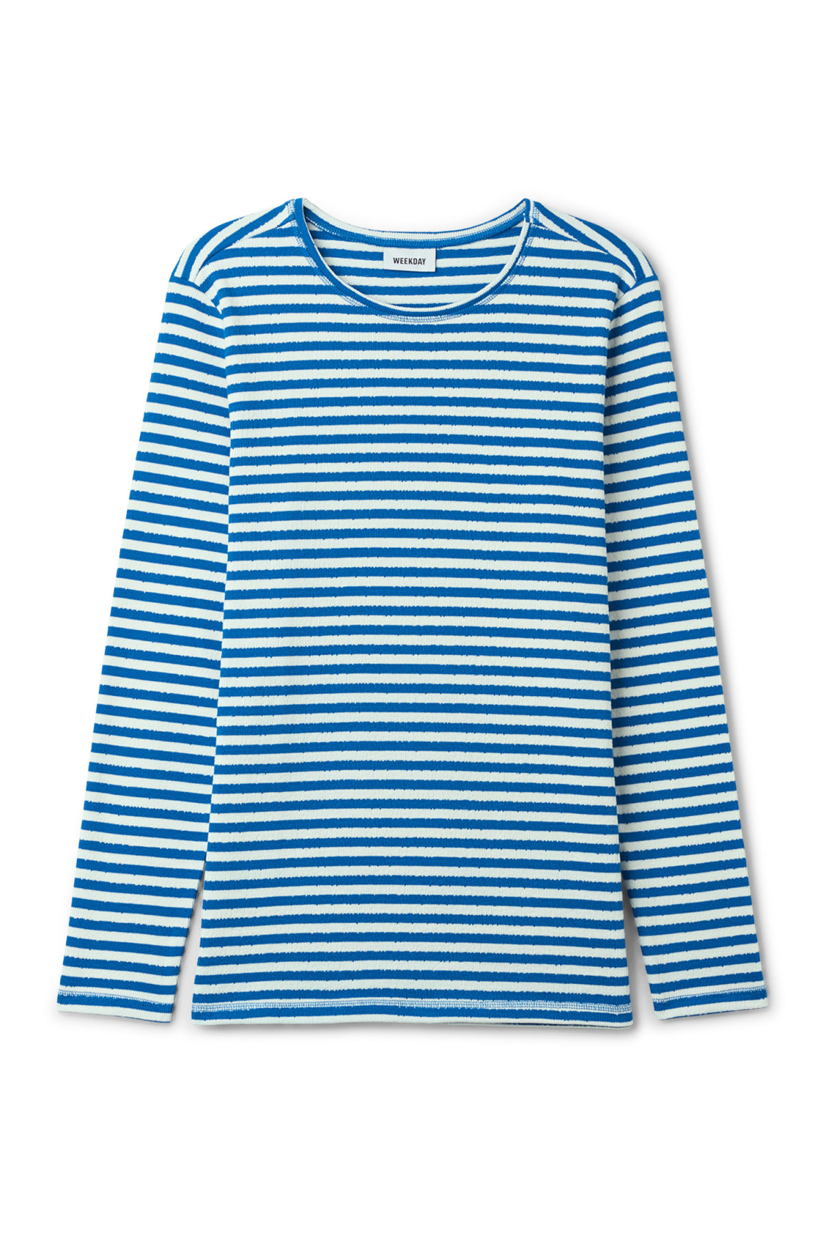 Front image of Weekday carter sweatshirt in blue