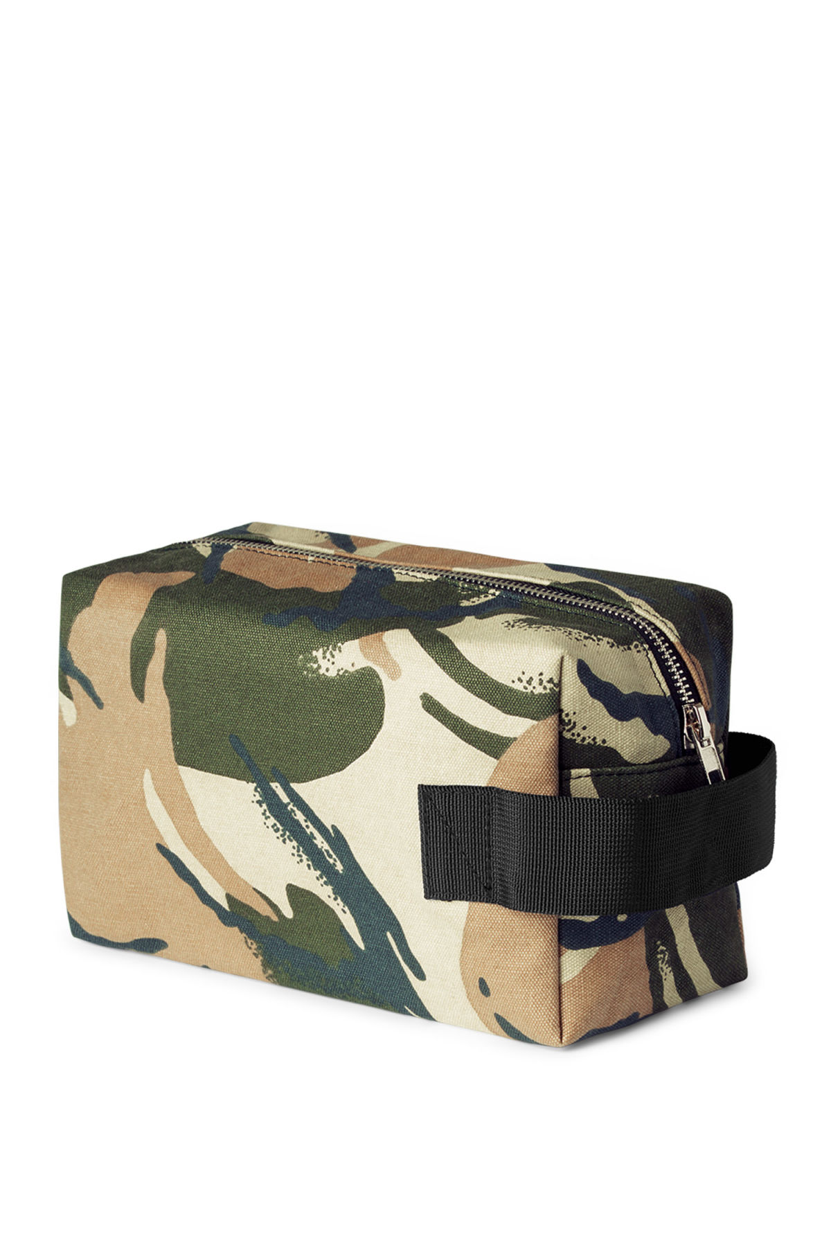 Front image of Weekday forest wash bag in green
