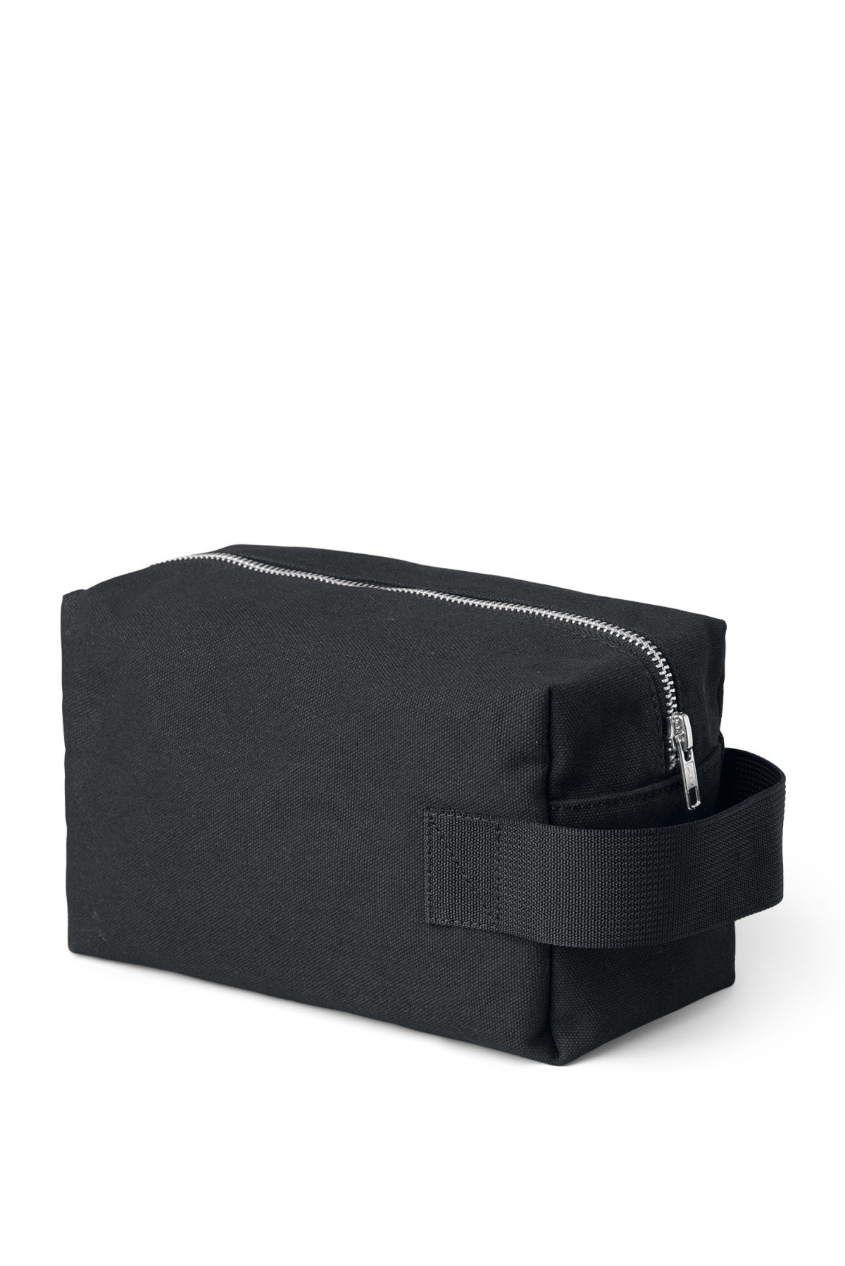 Front image of Weekday forest wash bag in black