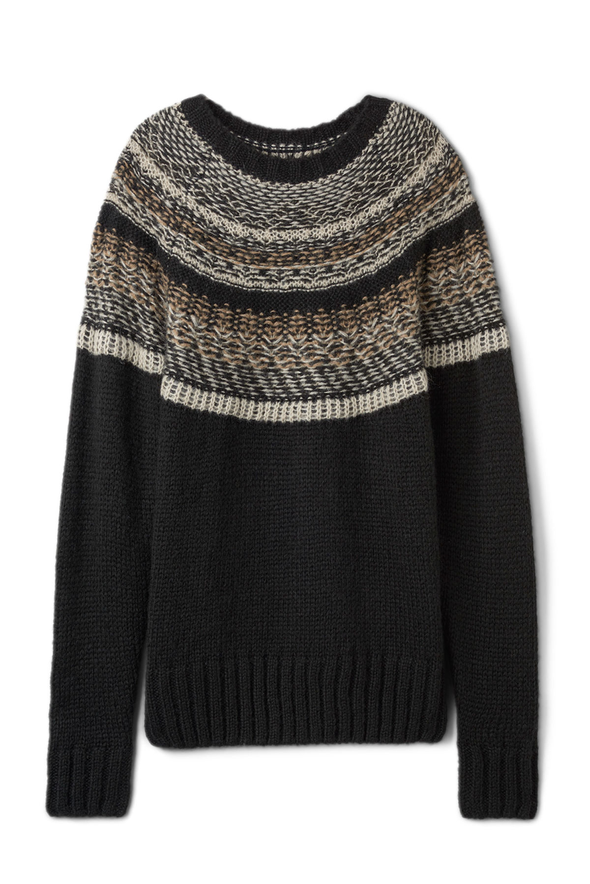 Front image of Weekday geisir sweater in black