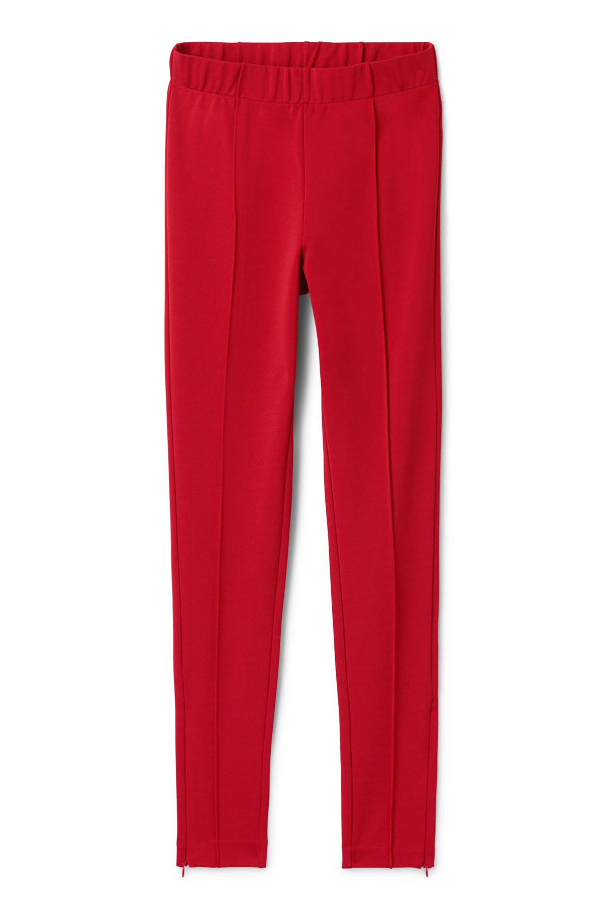 Front image of Weekday saabira trousers in red