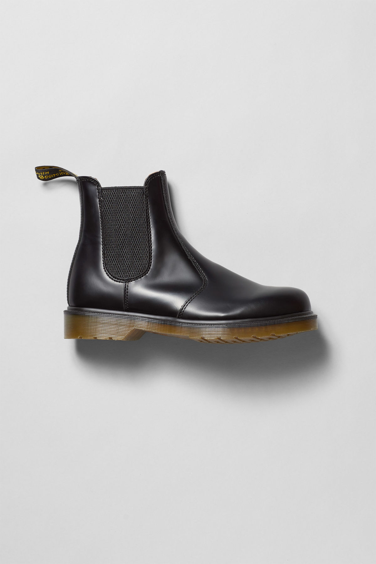 Front image of Weekday dr chelsea boot in black