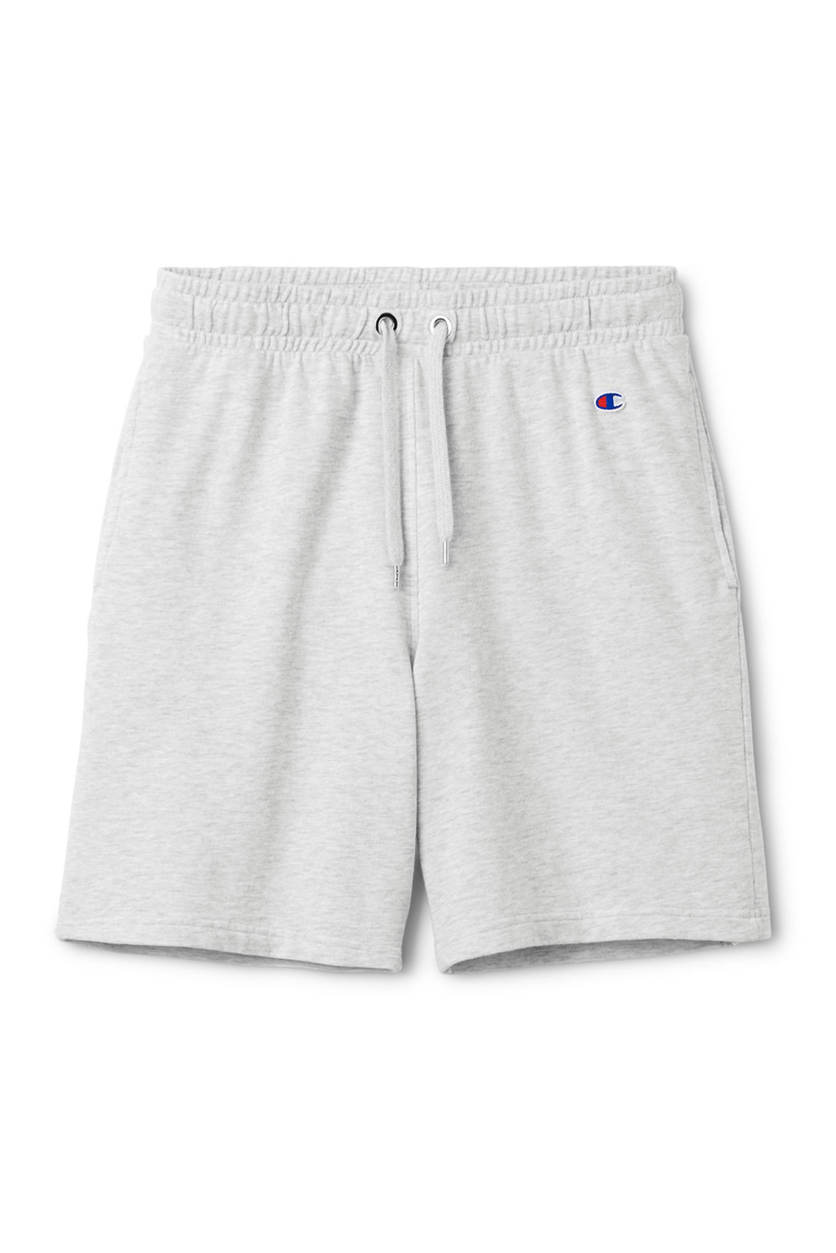 Front image of Weekday hurdle shorts in grey
