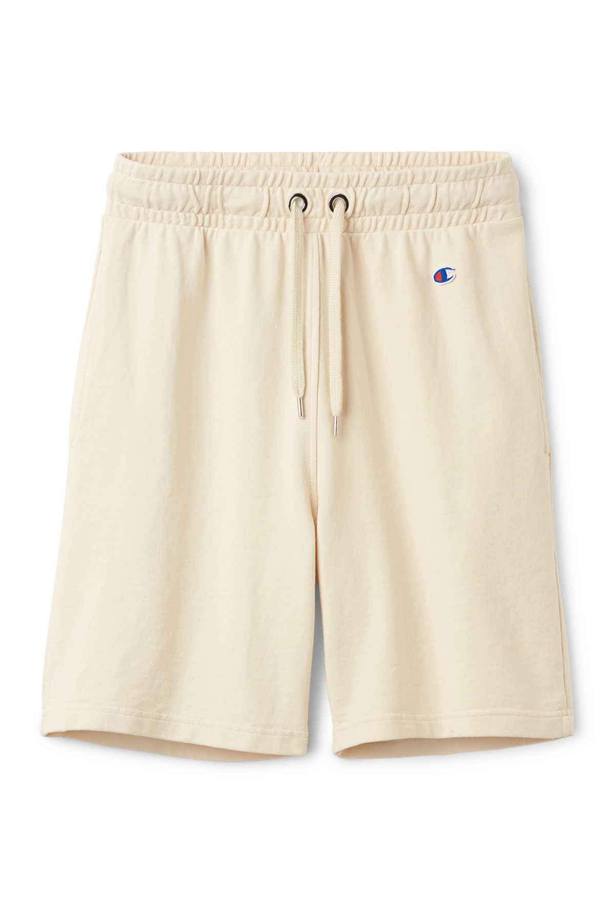 Front image of Weekday hurdle shorts in beige