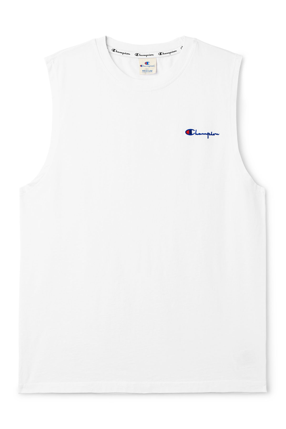 Front image of Weekday dive tank top in white