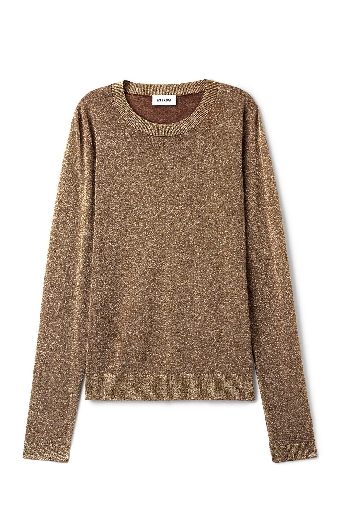Websites Sale Online Cheap Best Prices Weekday Tania Lurex Sweater - Beige Low Price Fee Shipping Sale Online Cheap Sale Store JxOaT