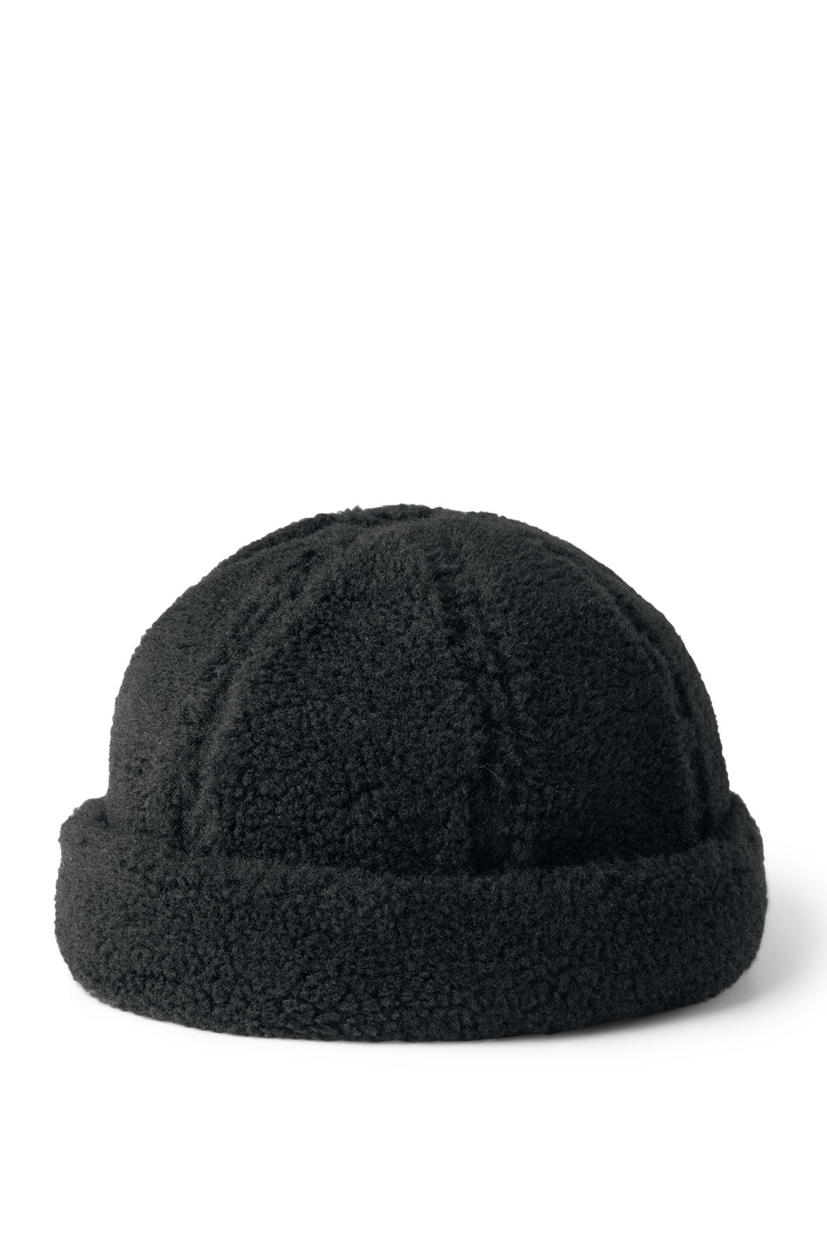 Front image of Weekday sign beanie in black