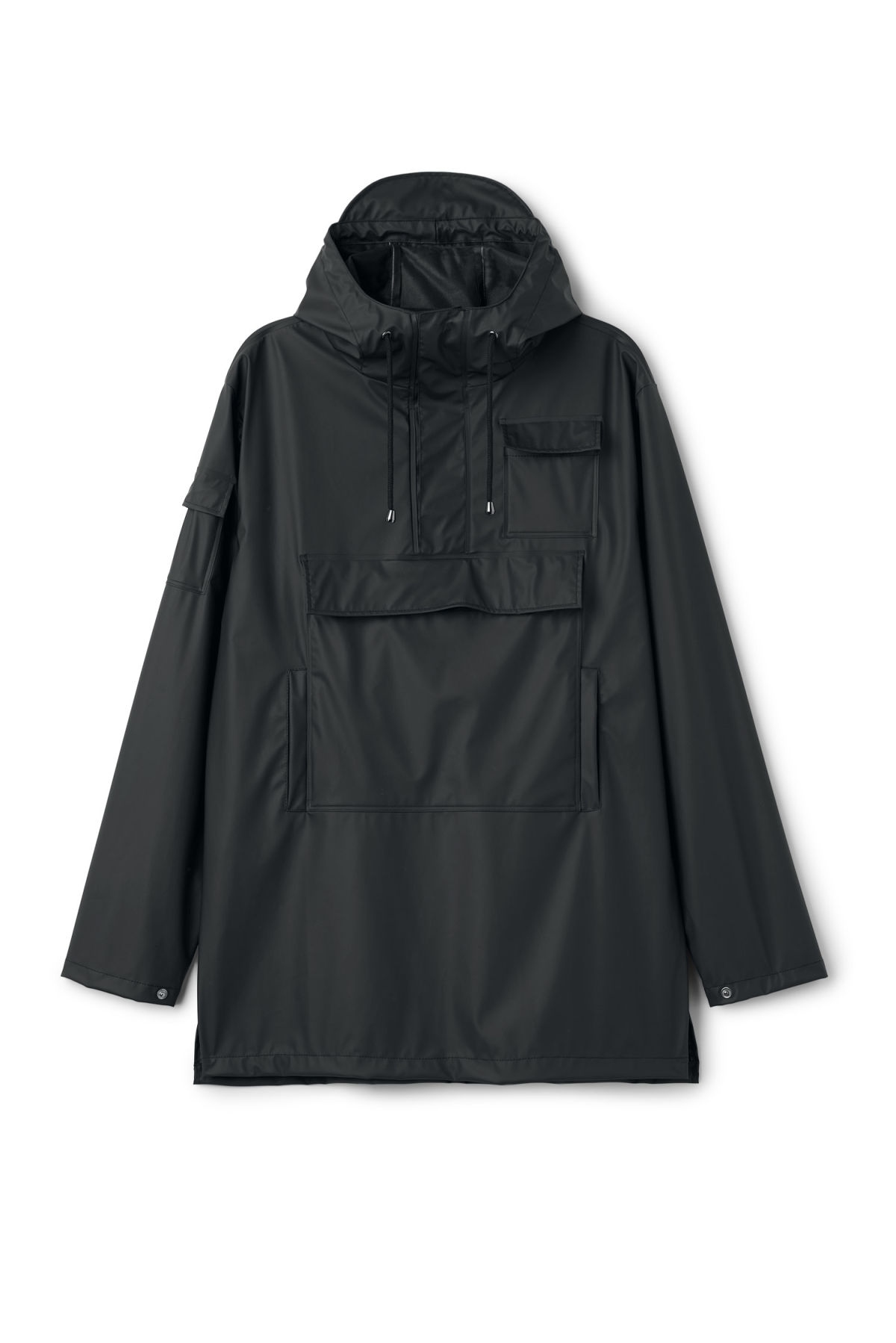 Front image of Weekday camp anorak in black