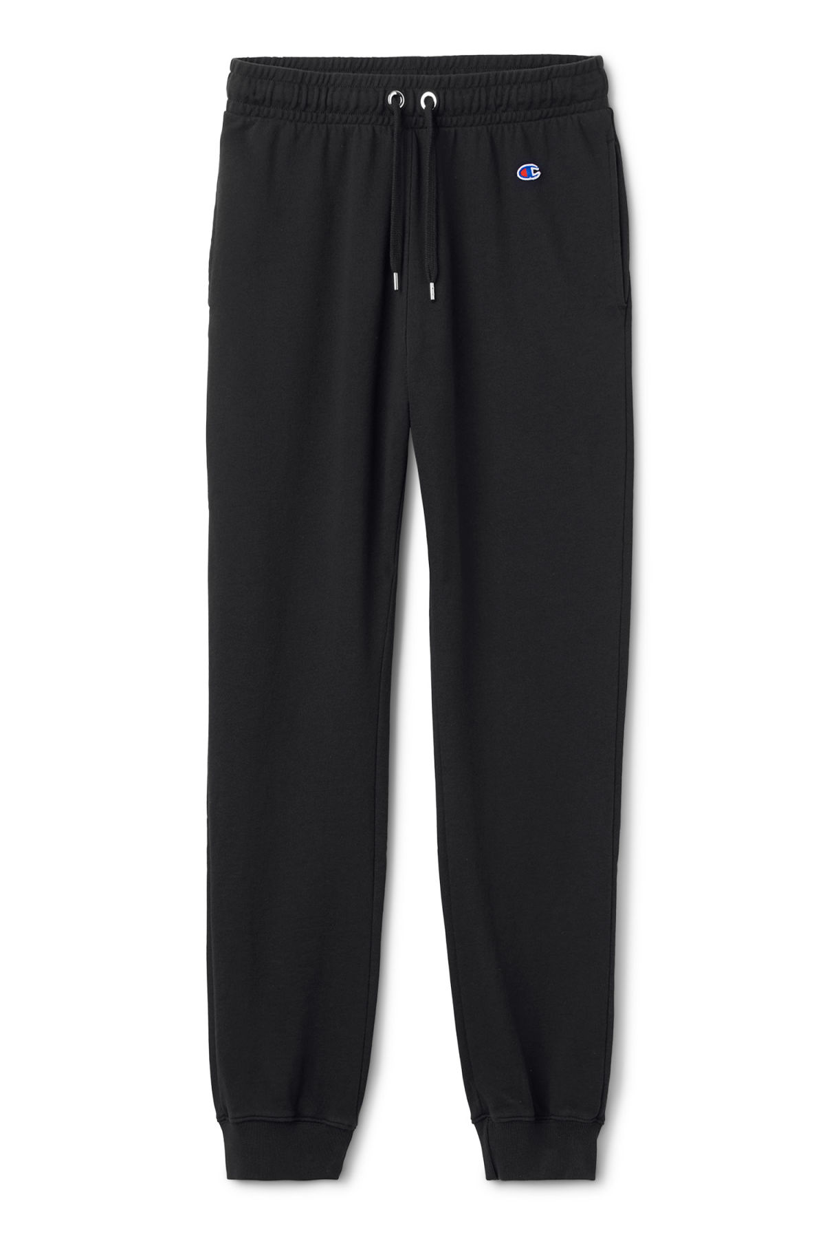 Front image of Weekday leap sweatpants in black