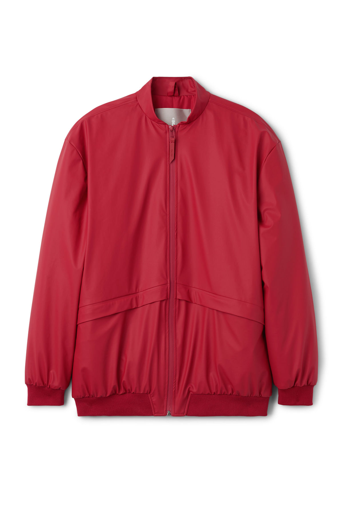 Front image of Weekday bomber jacket in red