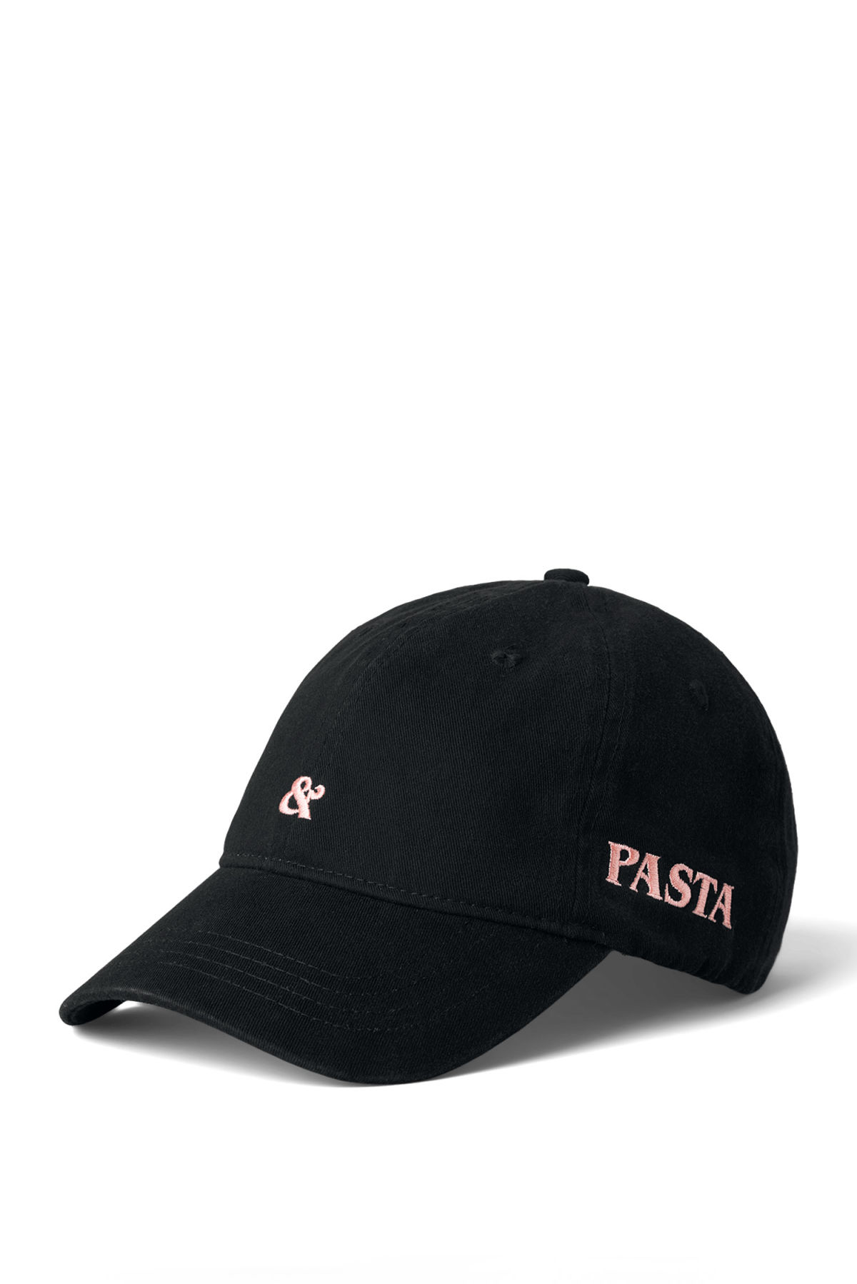 Front image of Weekday low profile cap in black