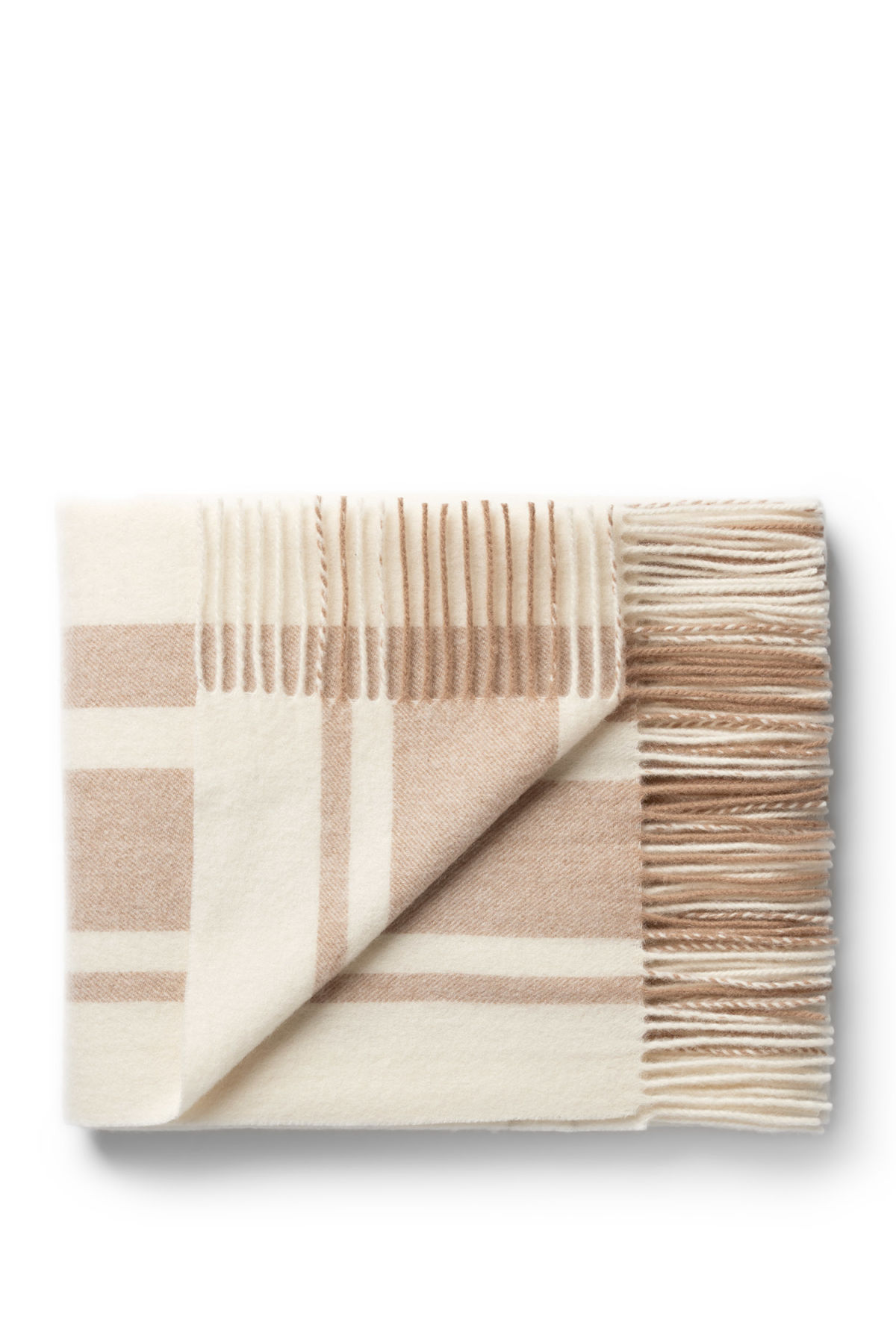 Front image of Weekday rut woven scarf in white