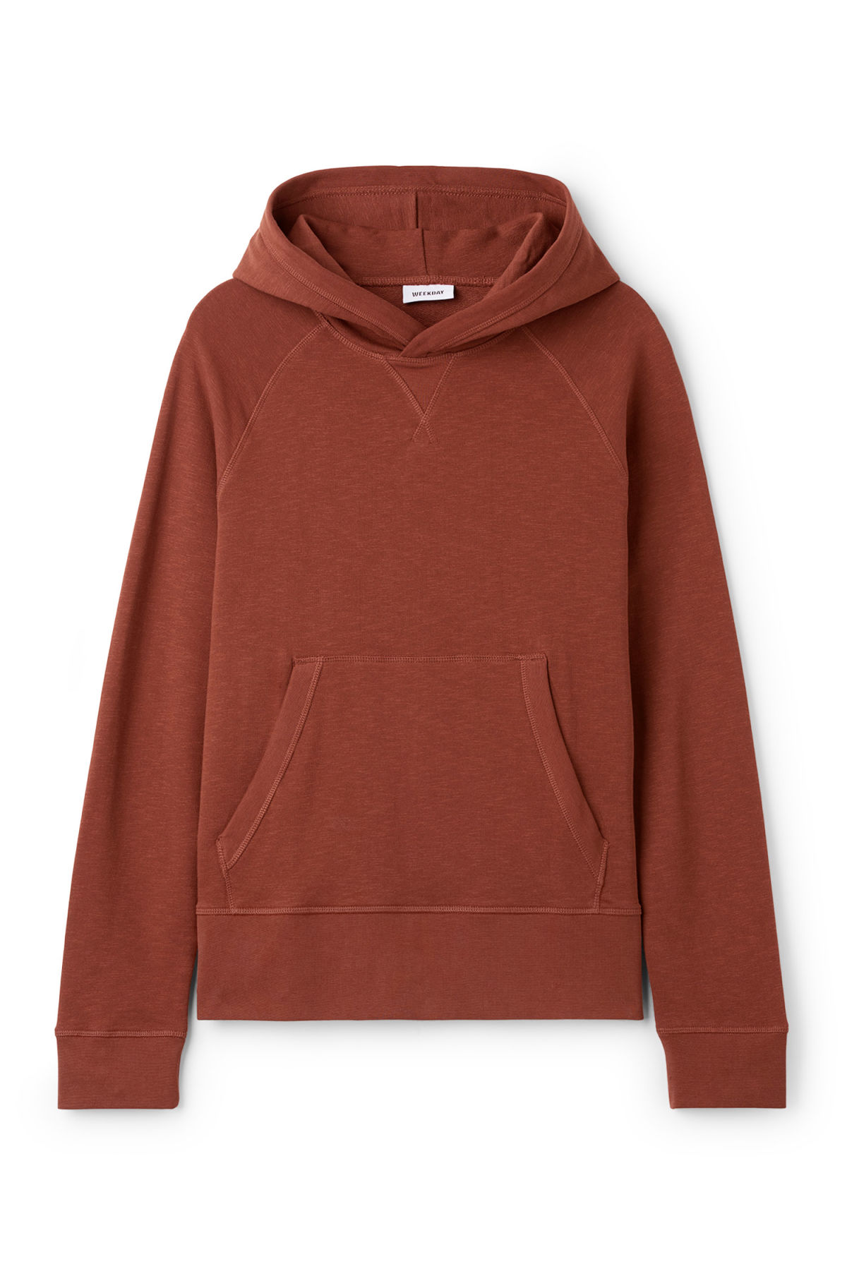 Front image of Weekday noah hoodie in orange
