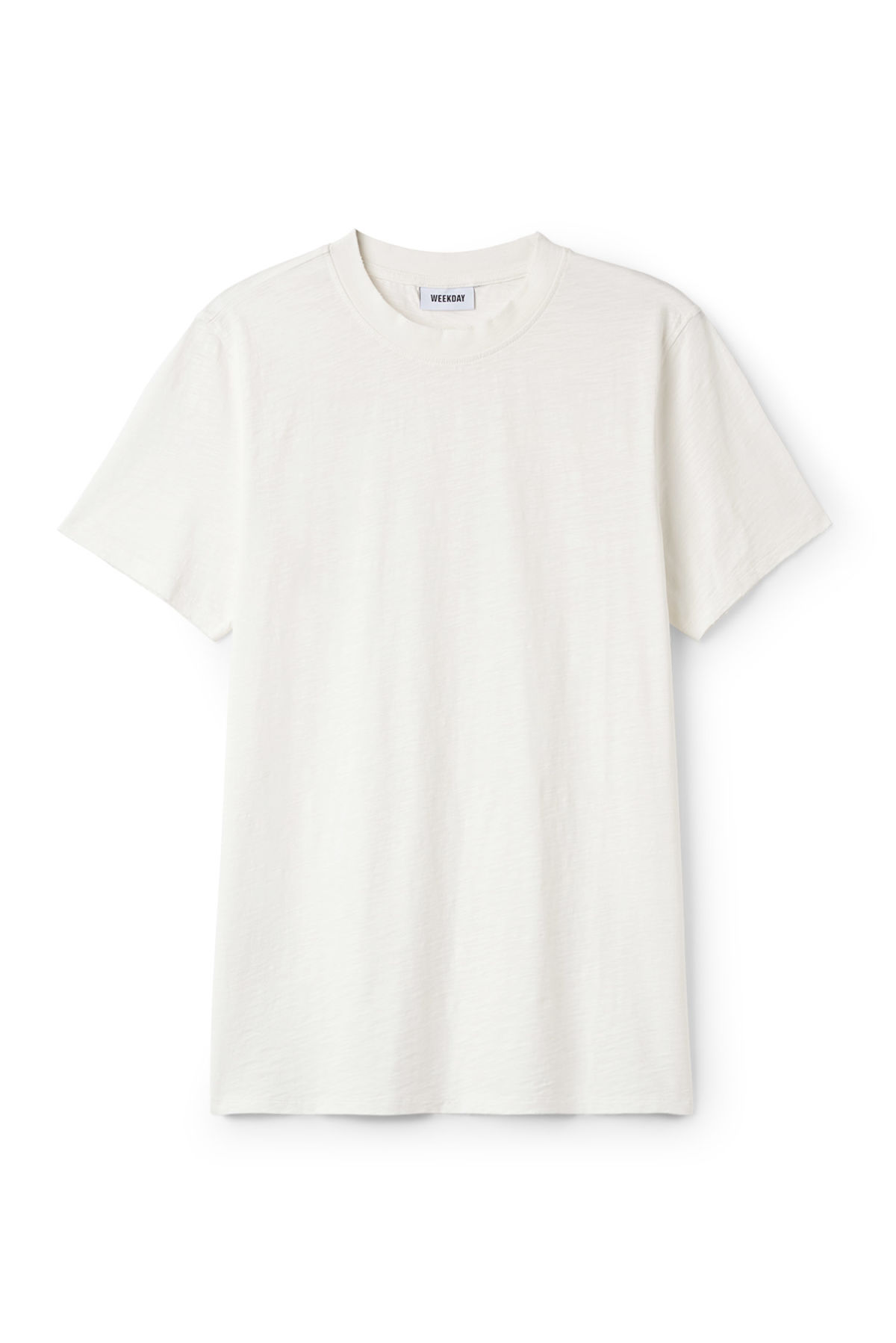 Front image of Weekday bob broken t-shirt in white