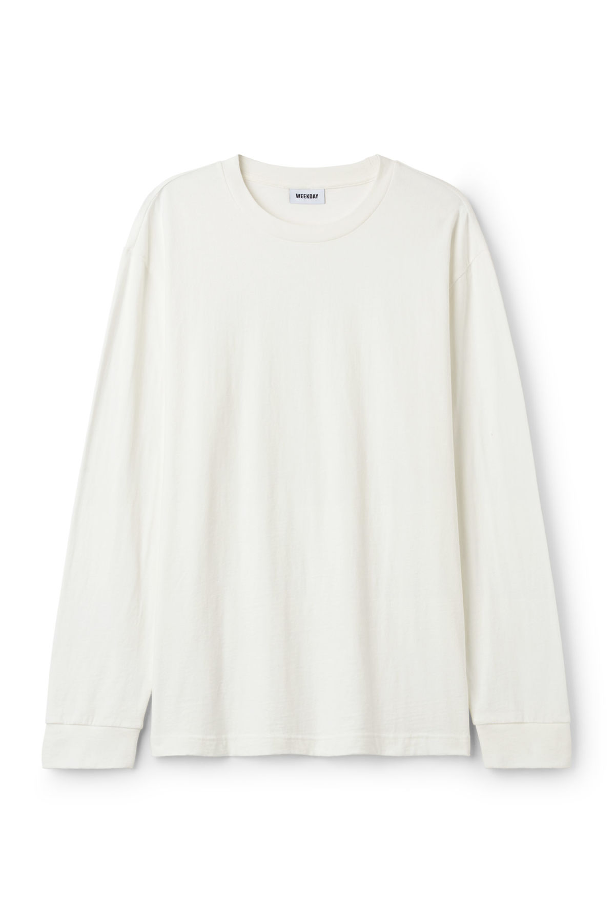 Front image of Weekday joseph long sleeve in white