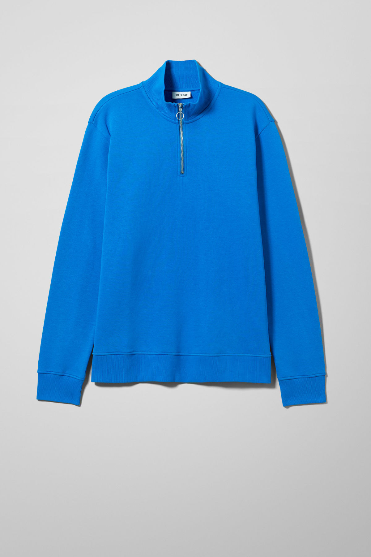 Front image of Weekday martin zip sweatshirt  in blue