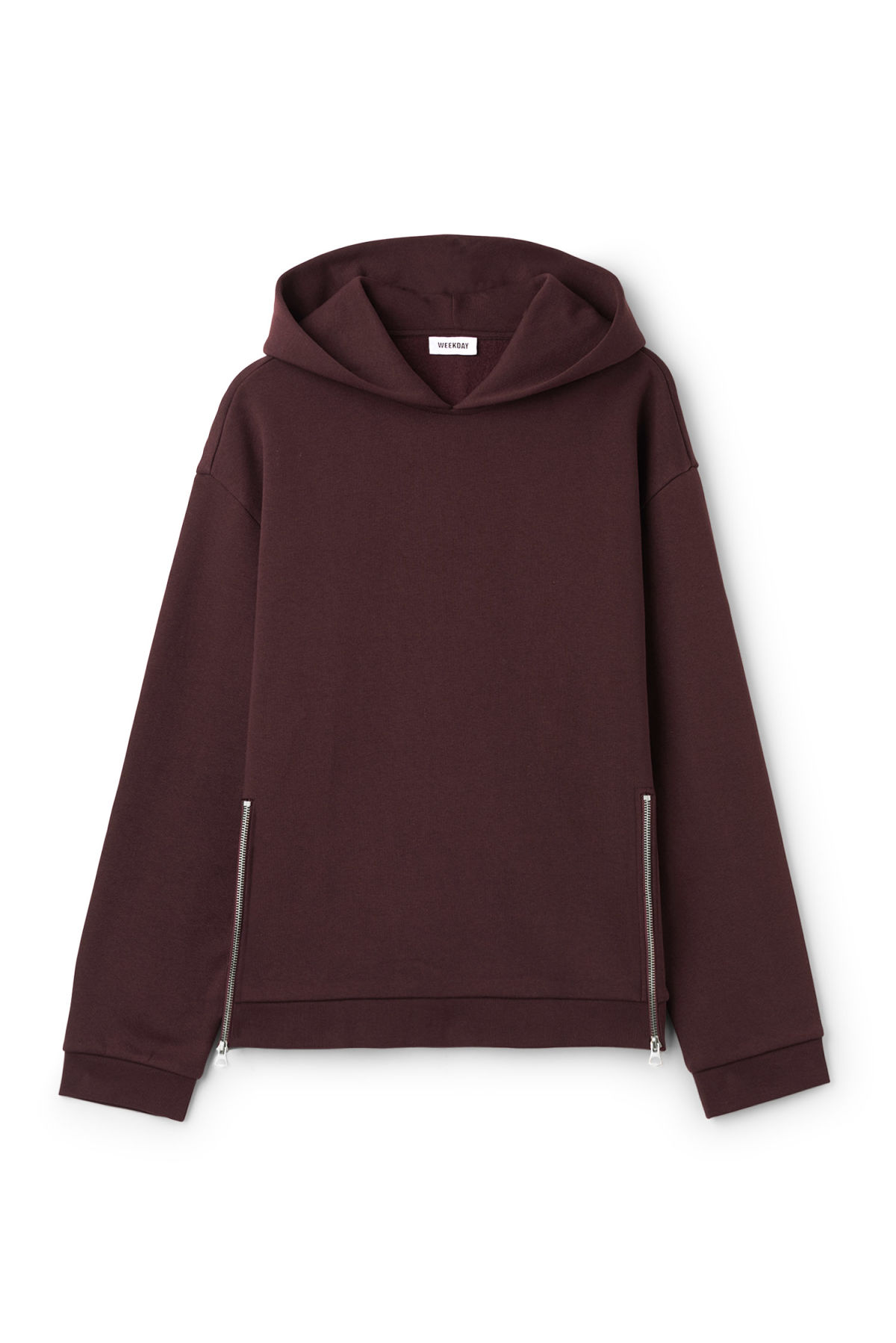 Front image of Weekday ake hoodie  in red