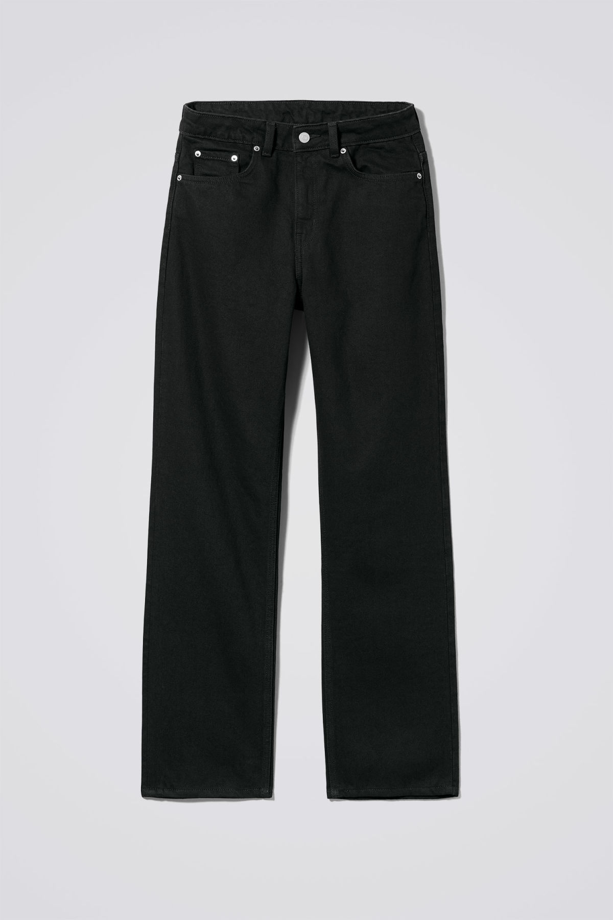 Front image of Weekday voyage black jeans in black