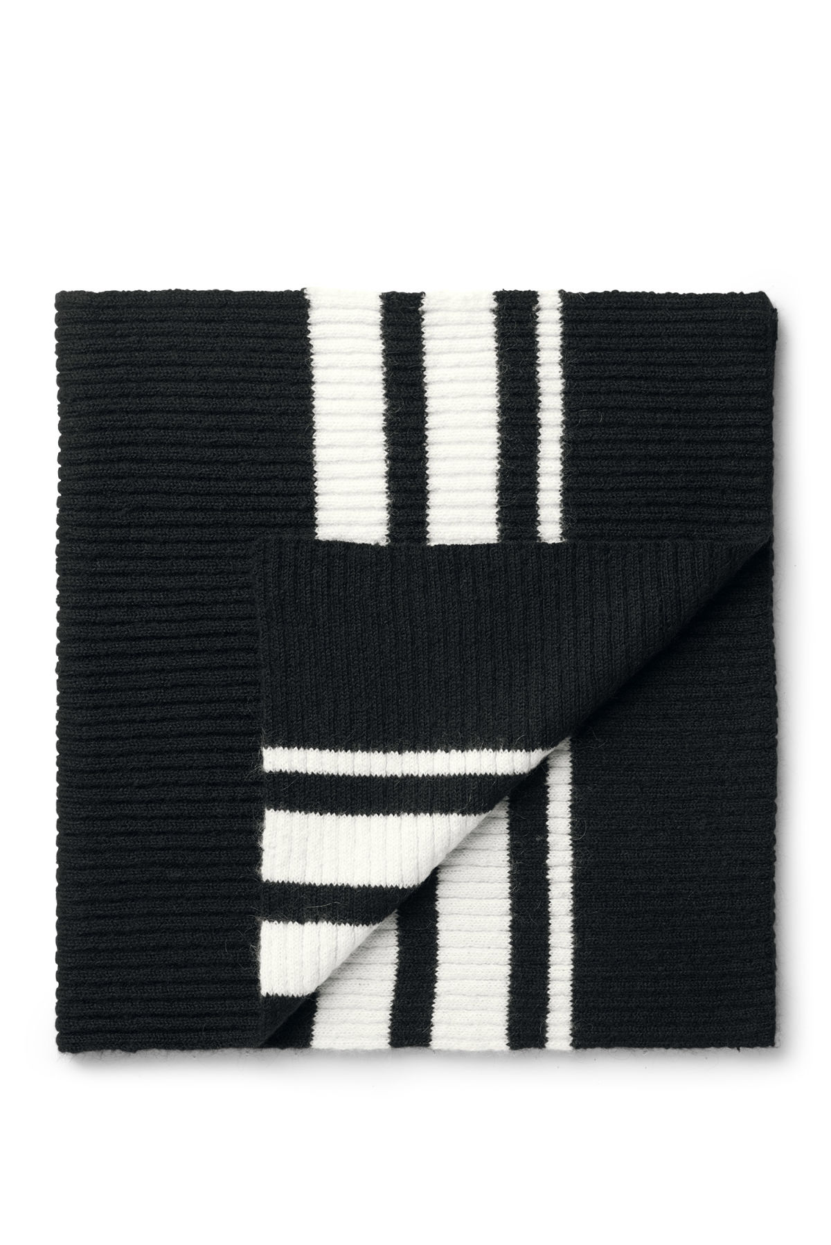 Front image of Weekday eris scarf in black