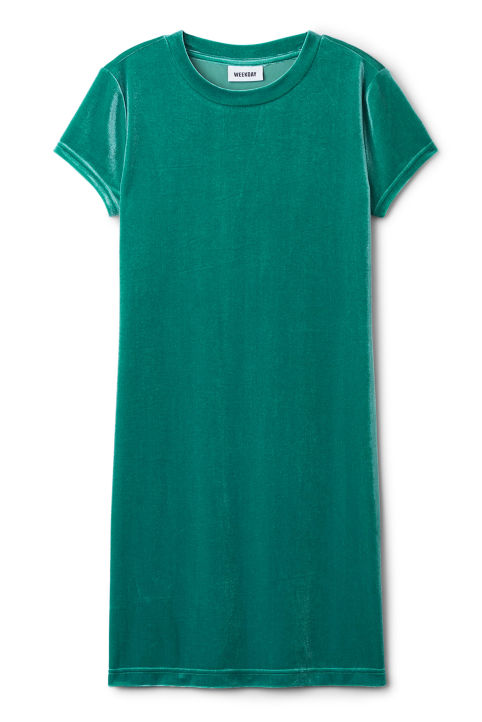 Weekday Fray Short Sleeve Dress