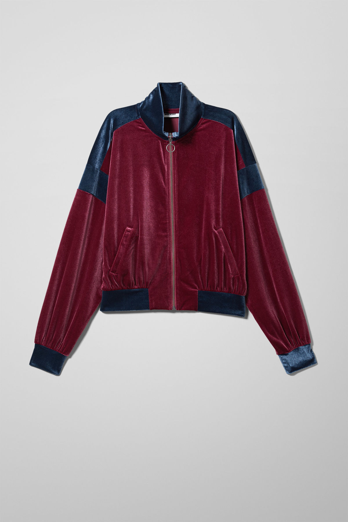 Front image of Weekday lessie jacket in red