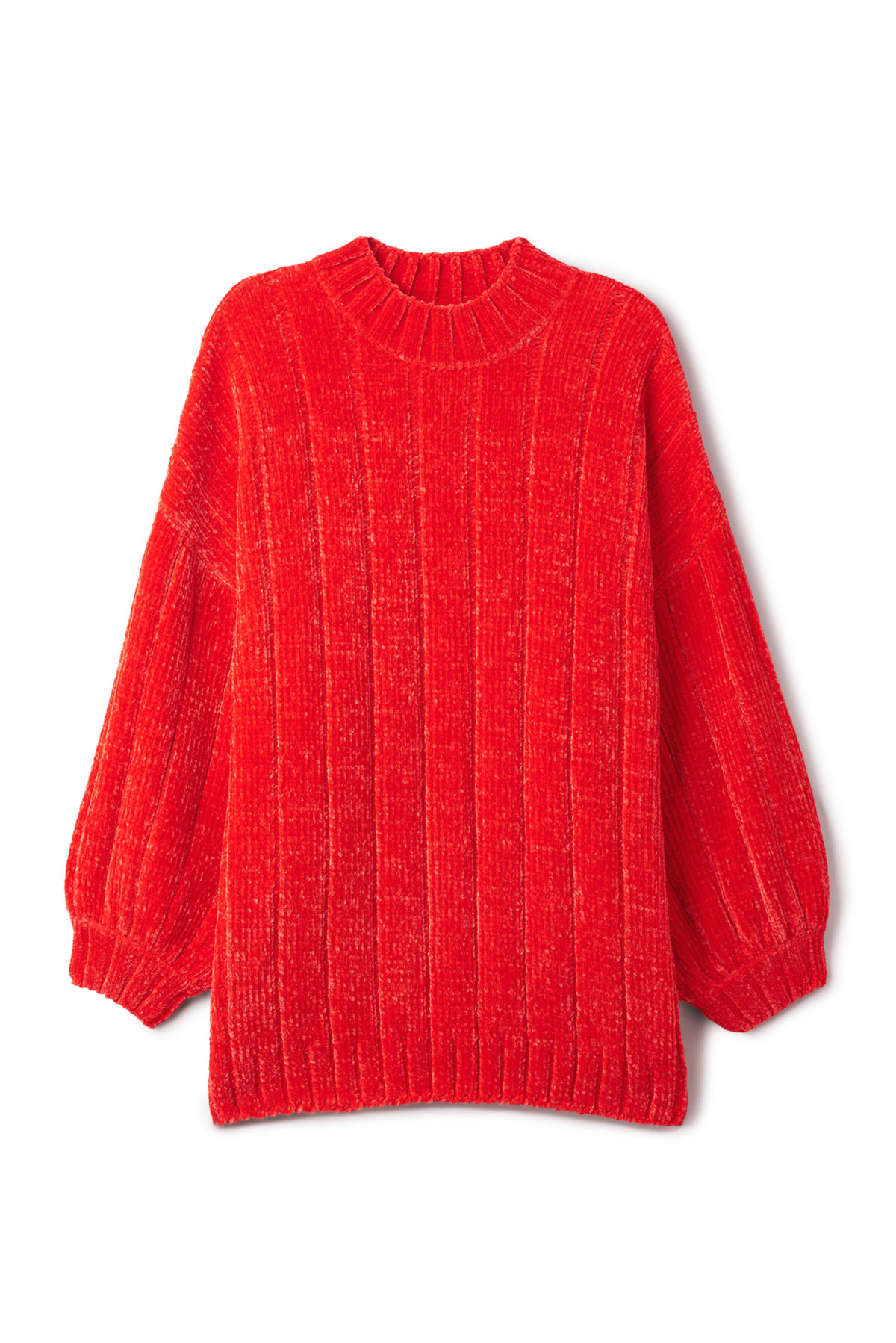 Front image of Weekday missy knit sweater in red