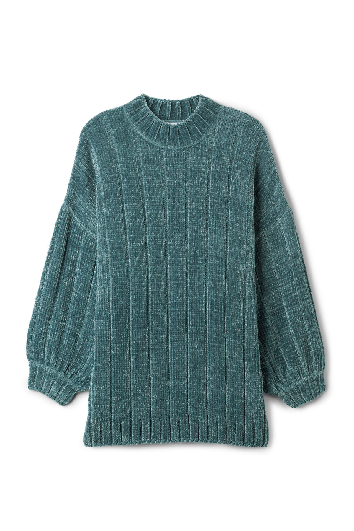 Front image of Weekday missy knit sweater in blue