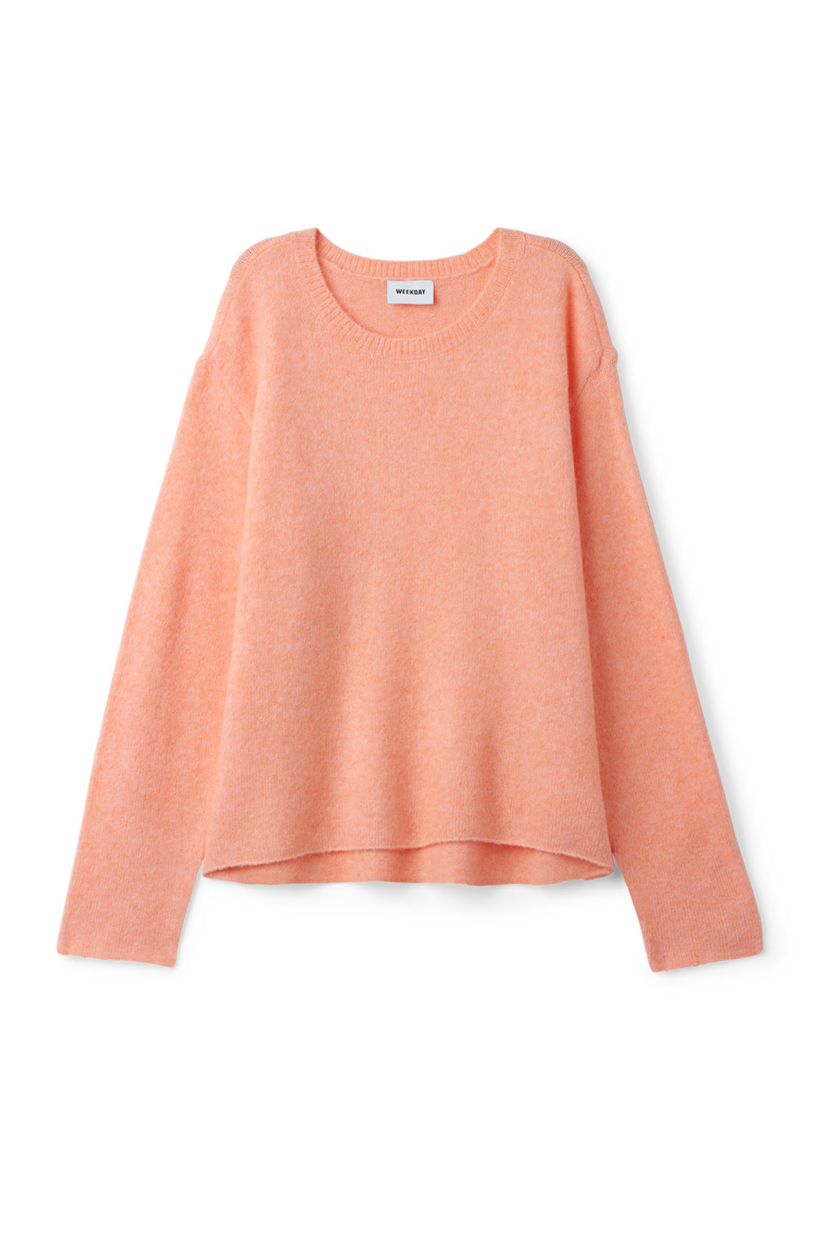 Front image of Weekday wish sweater  in orange