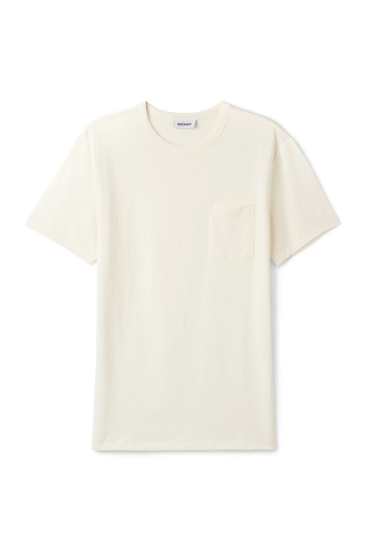 Front image of Weekday anton t-shirt in white