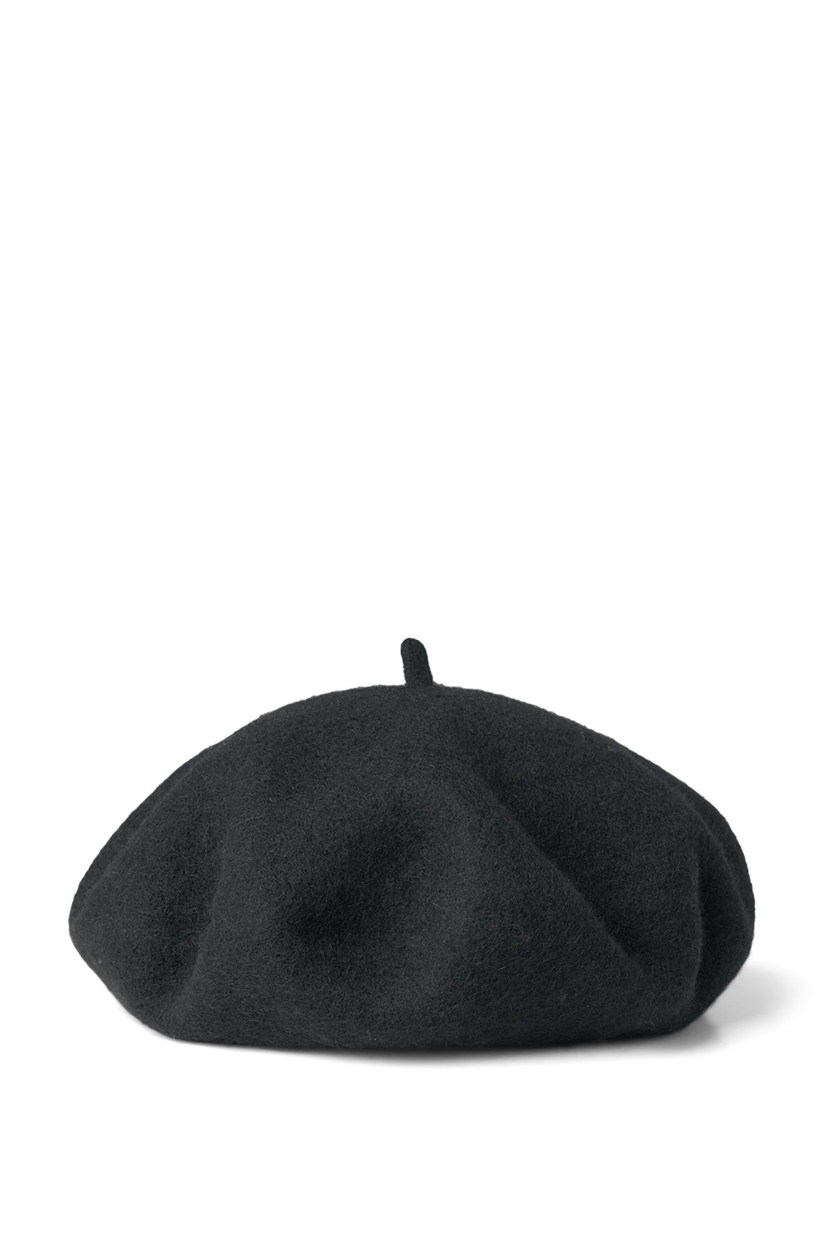 Front image of Weekday fall beret in black